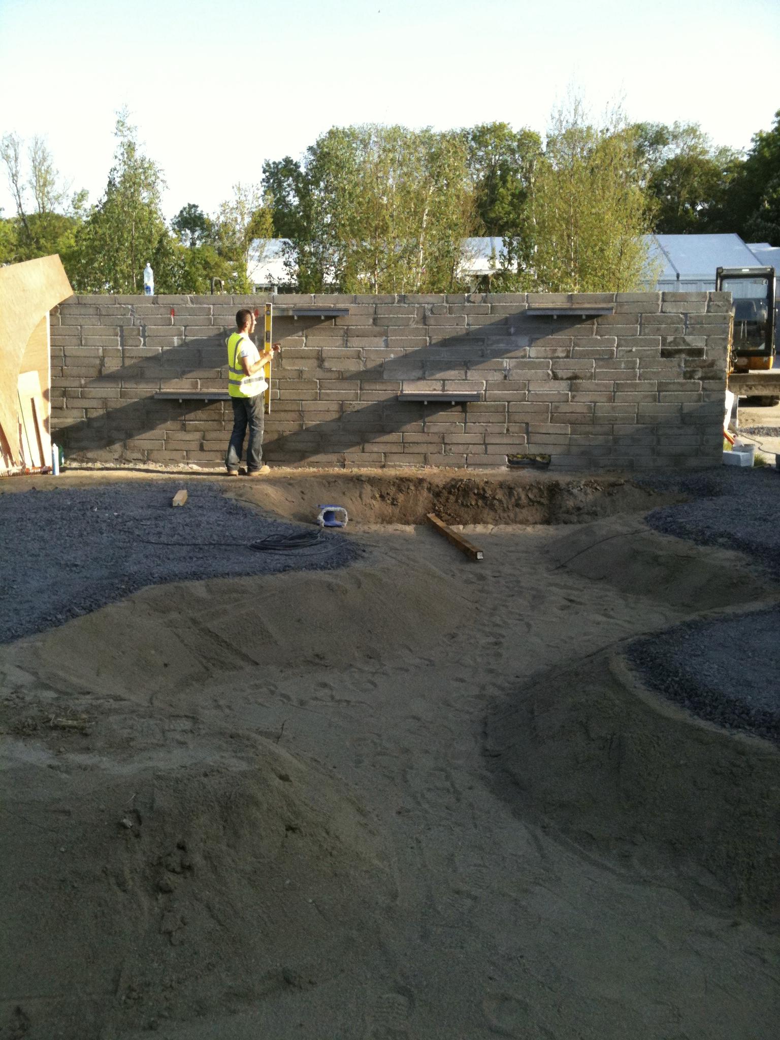 construction of Show Garden