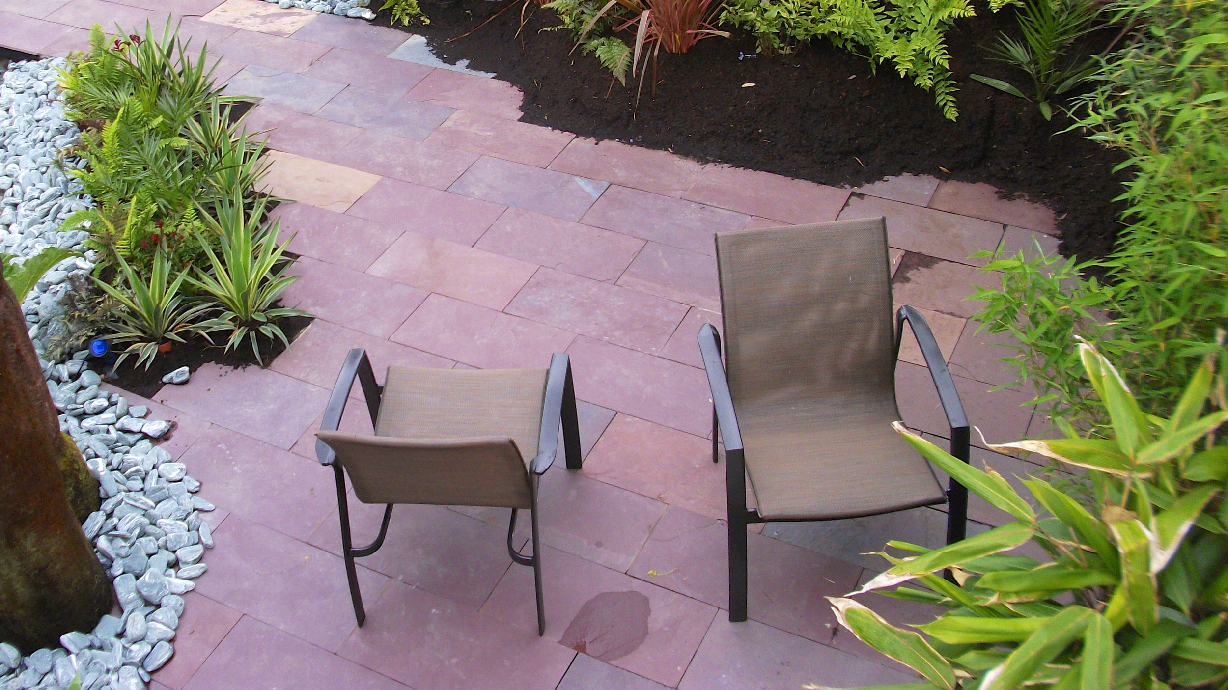 indian slate and patio set