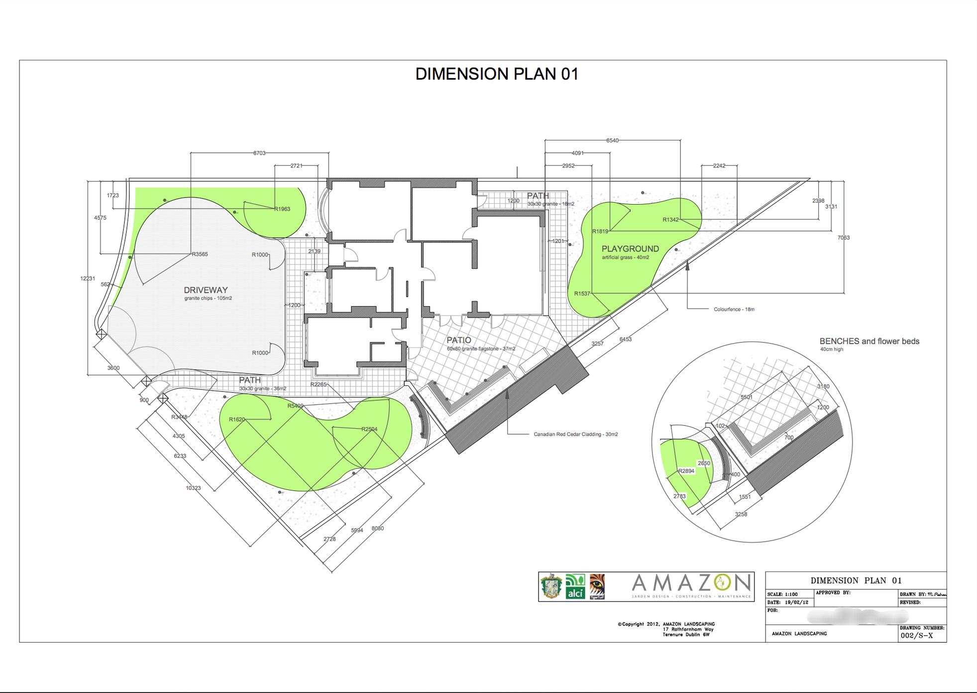 autocad Garden Design plan