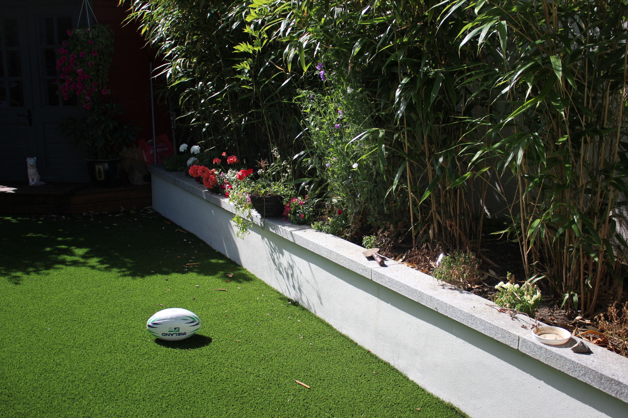 Raised bed featuring bamboo