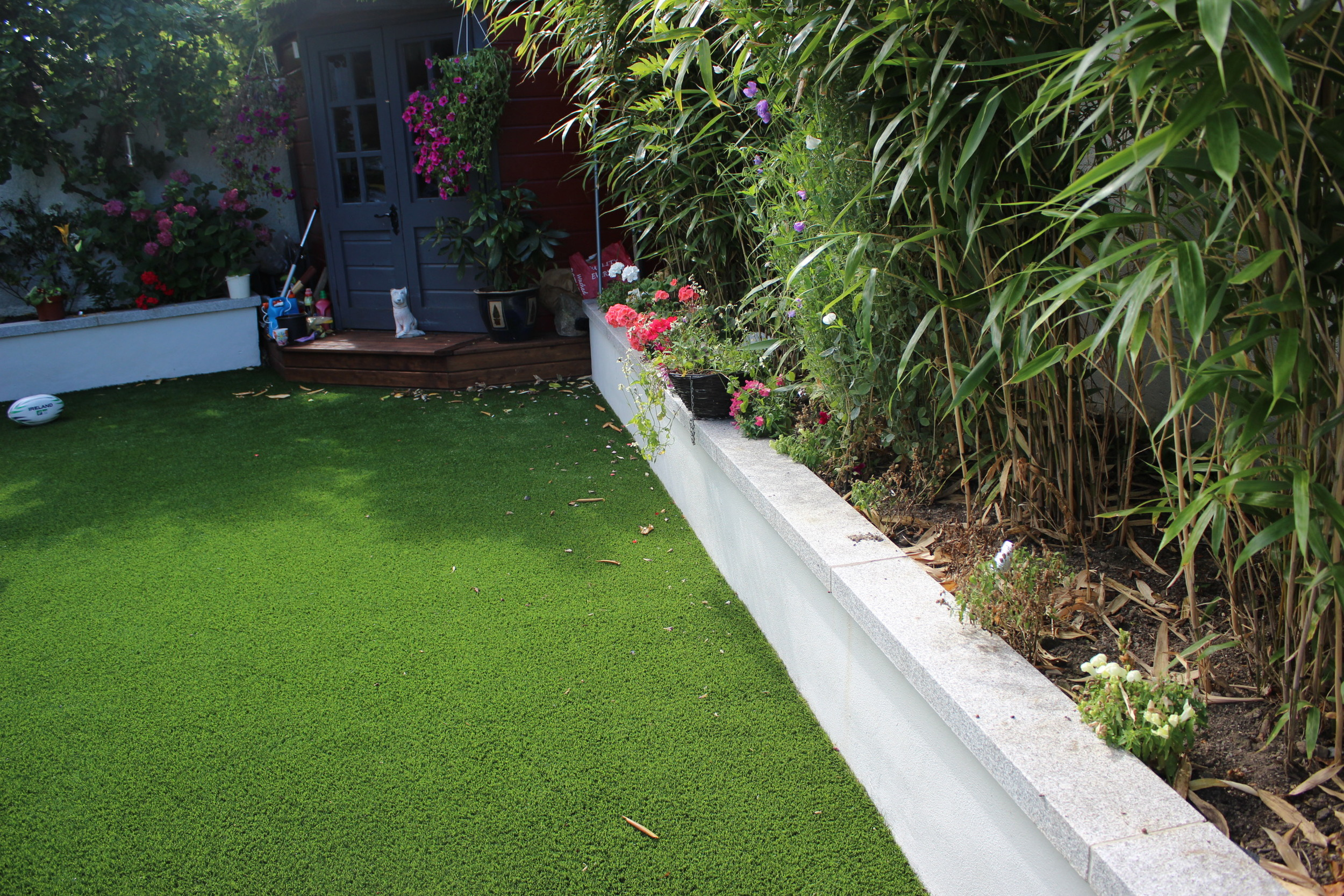raised bed and bamboo
