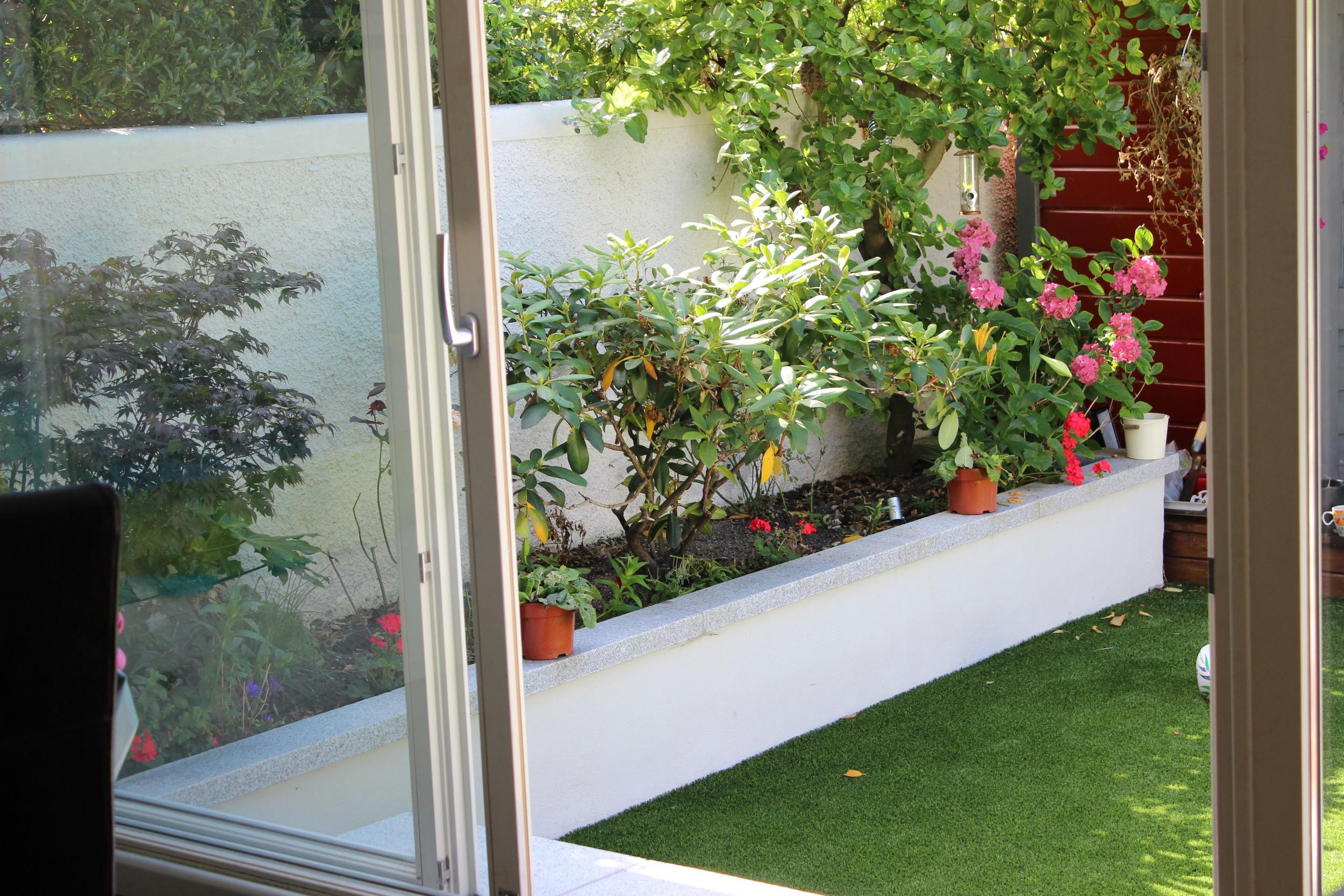 view of Garden from Kitchen