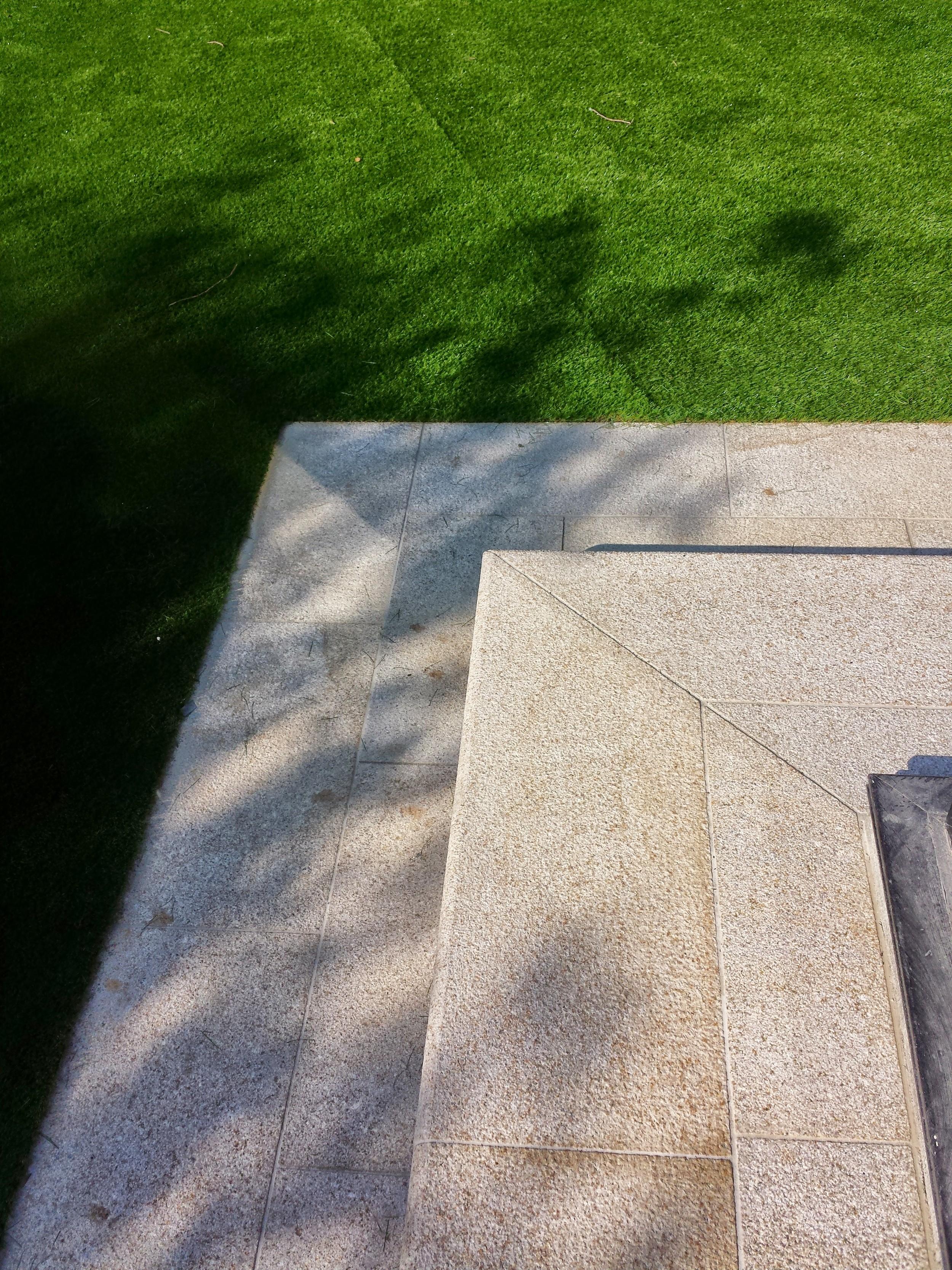Granite step and Turf