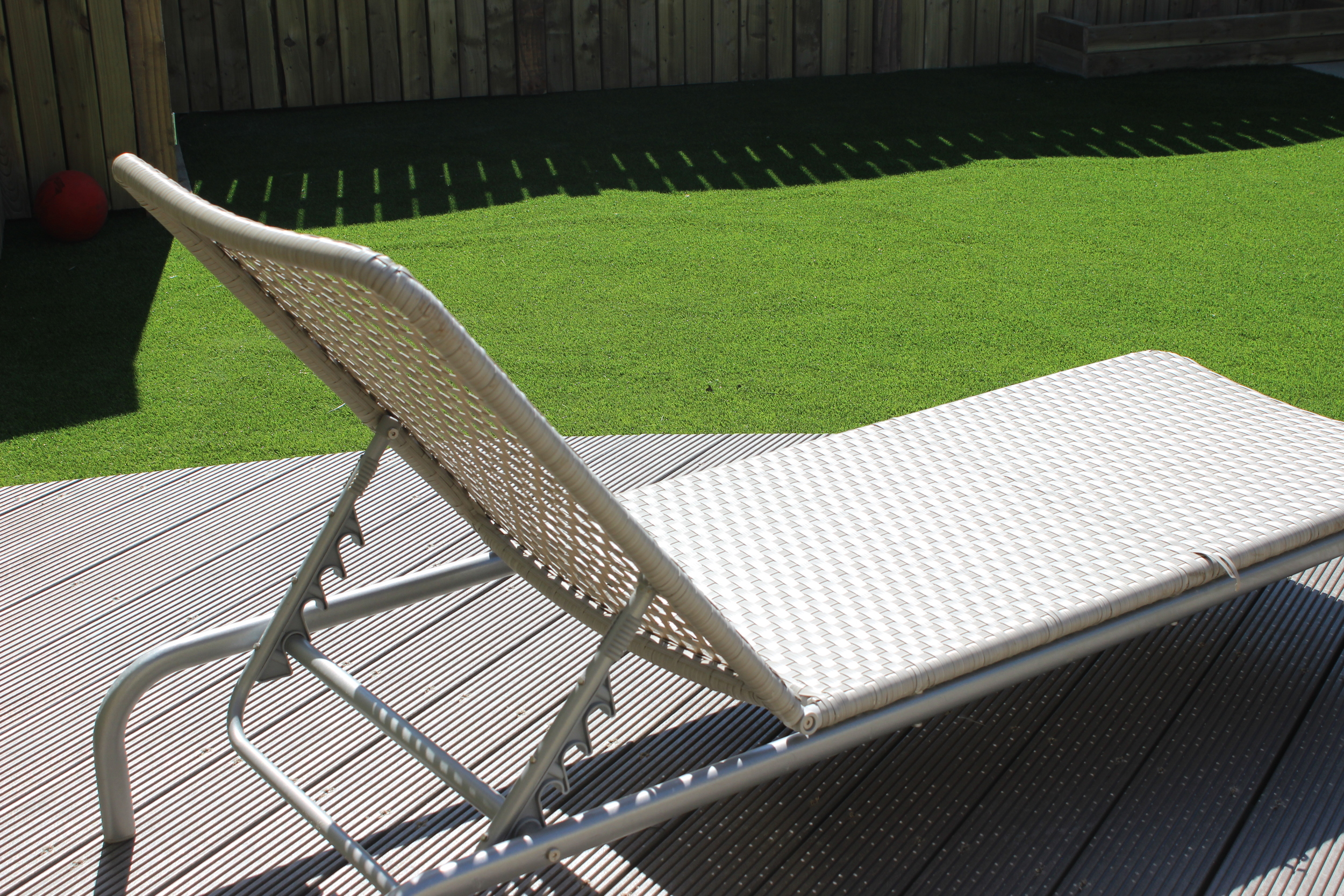 Deck Chair and Grass