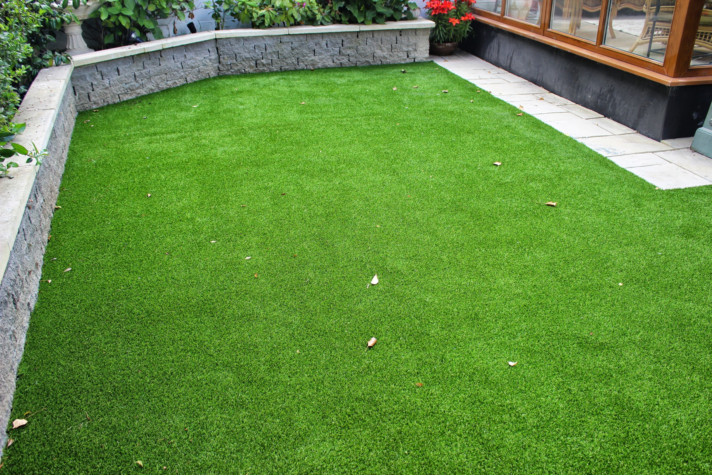An astro turf garden lawn