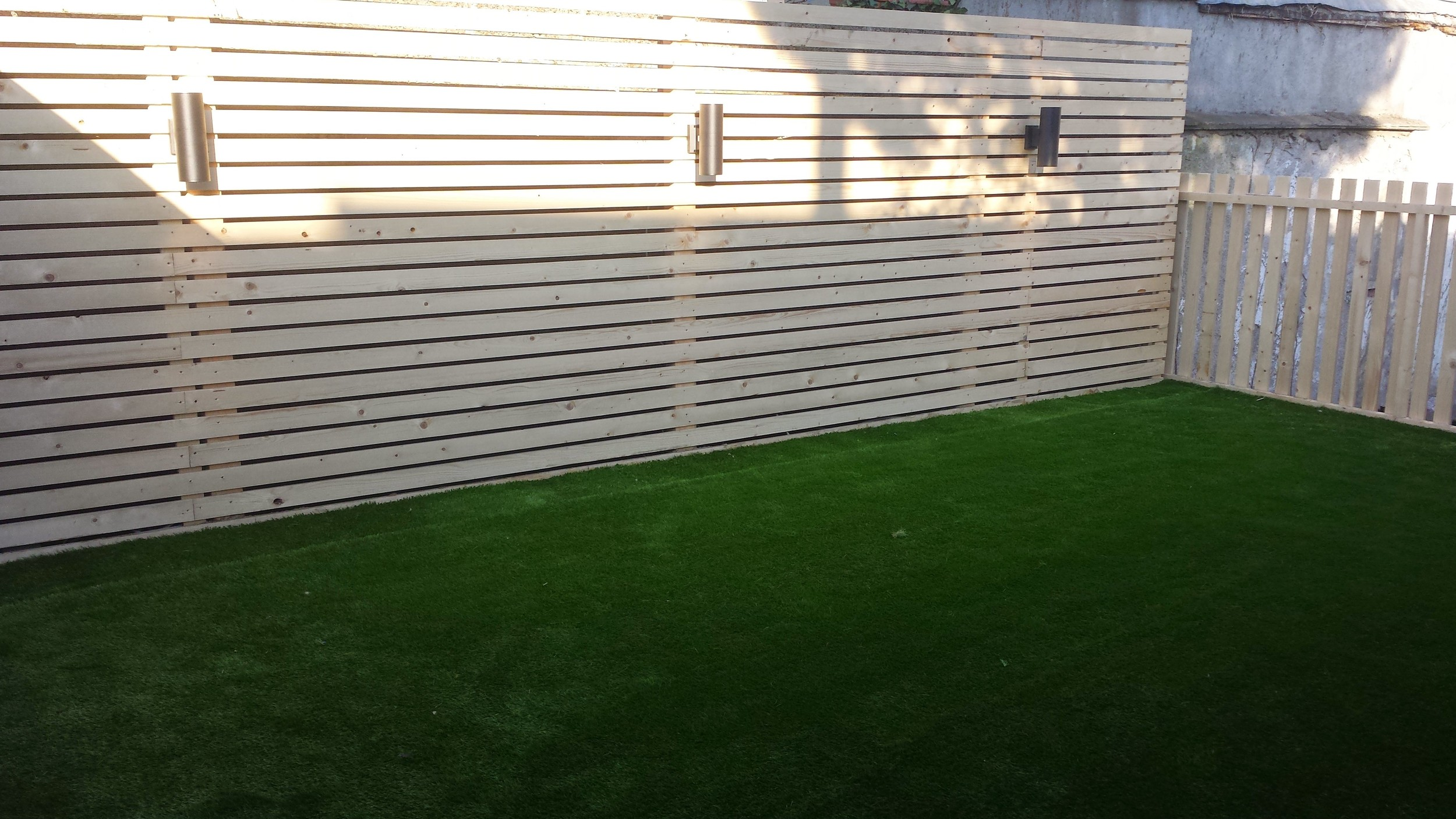 Garden Fence and turf