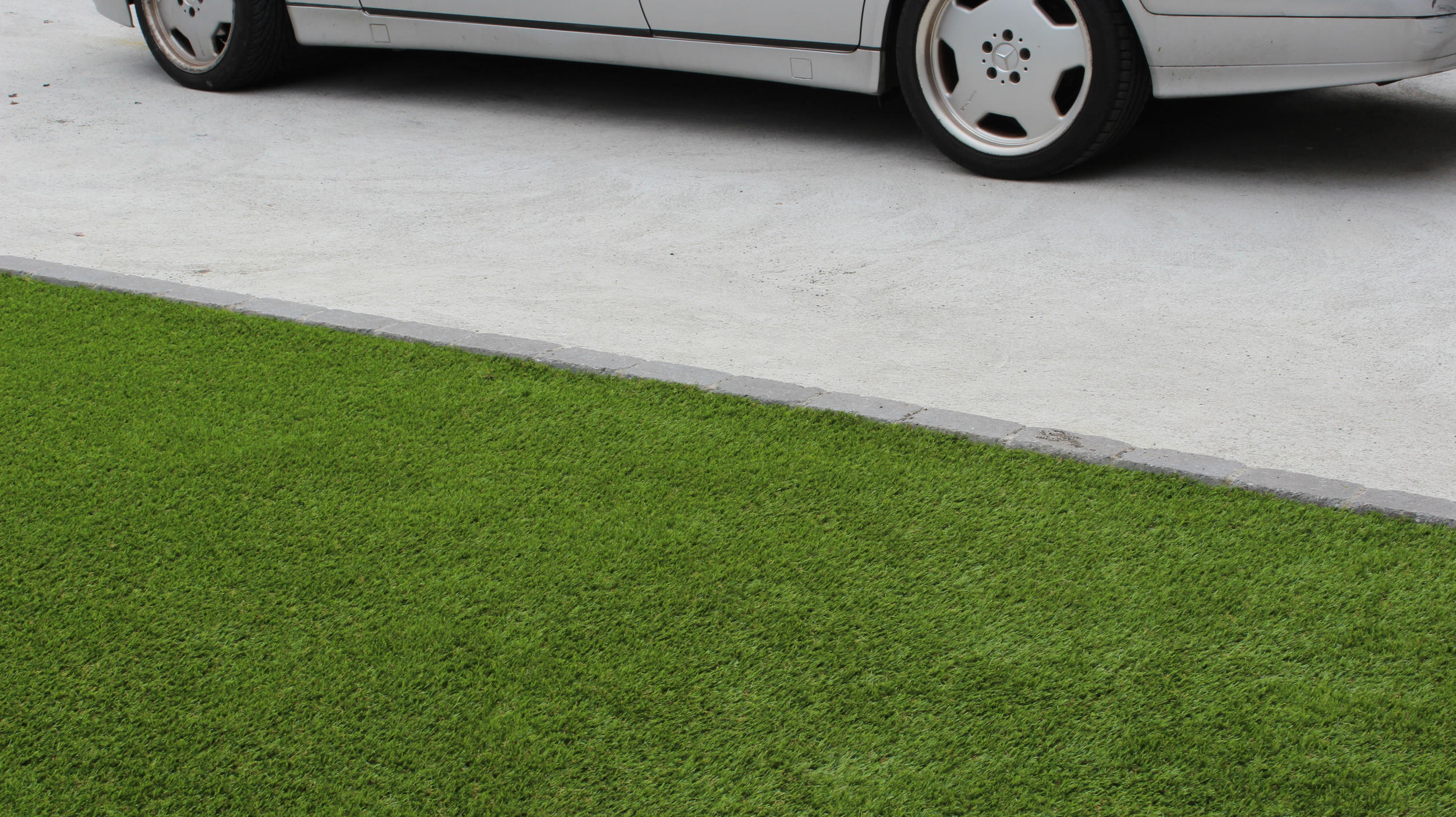 front drive and turf