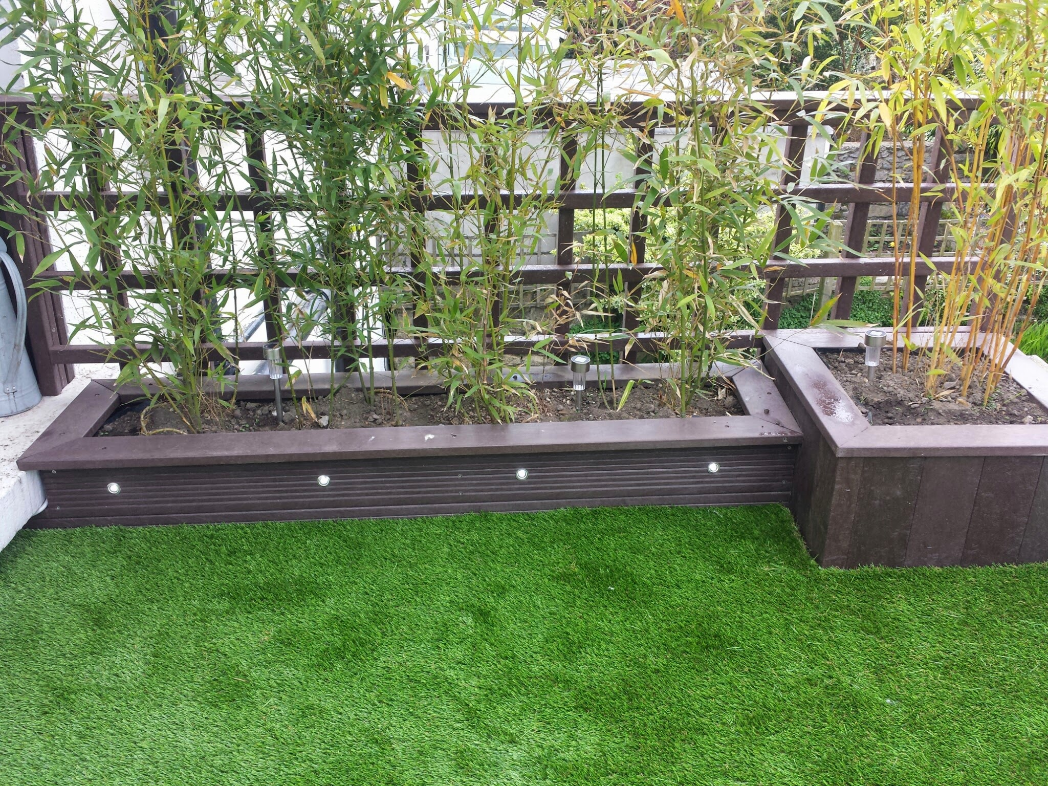 low maintenance decking and turf
