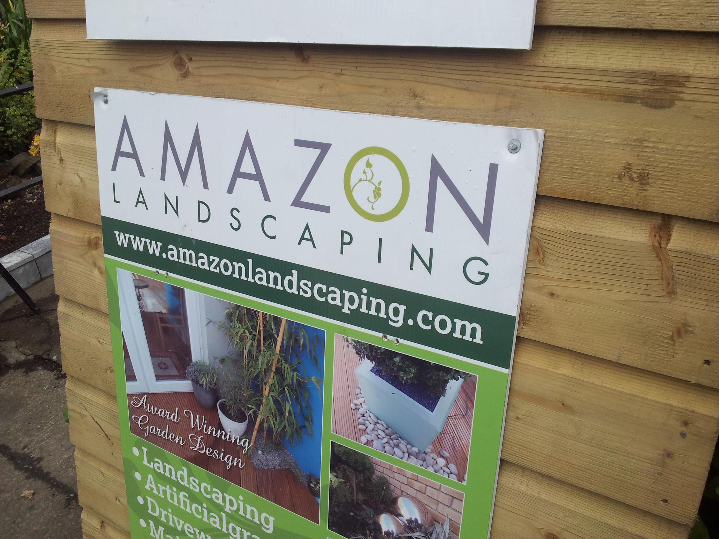 Amazon Landscaping sign