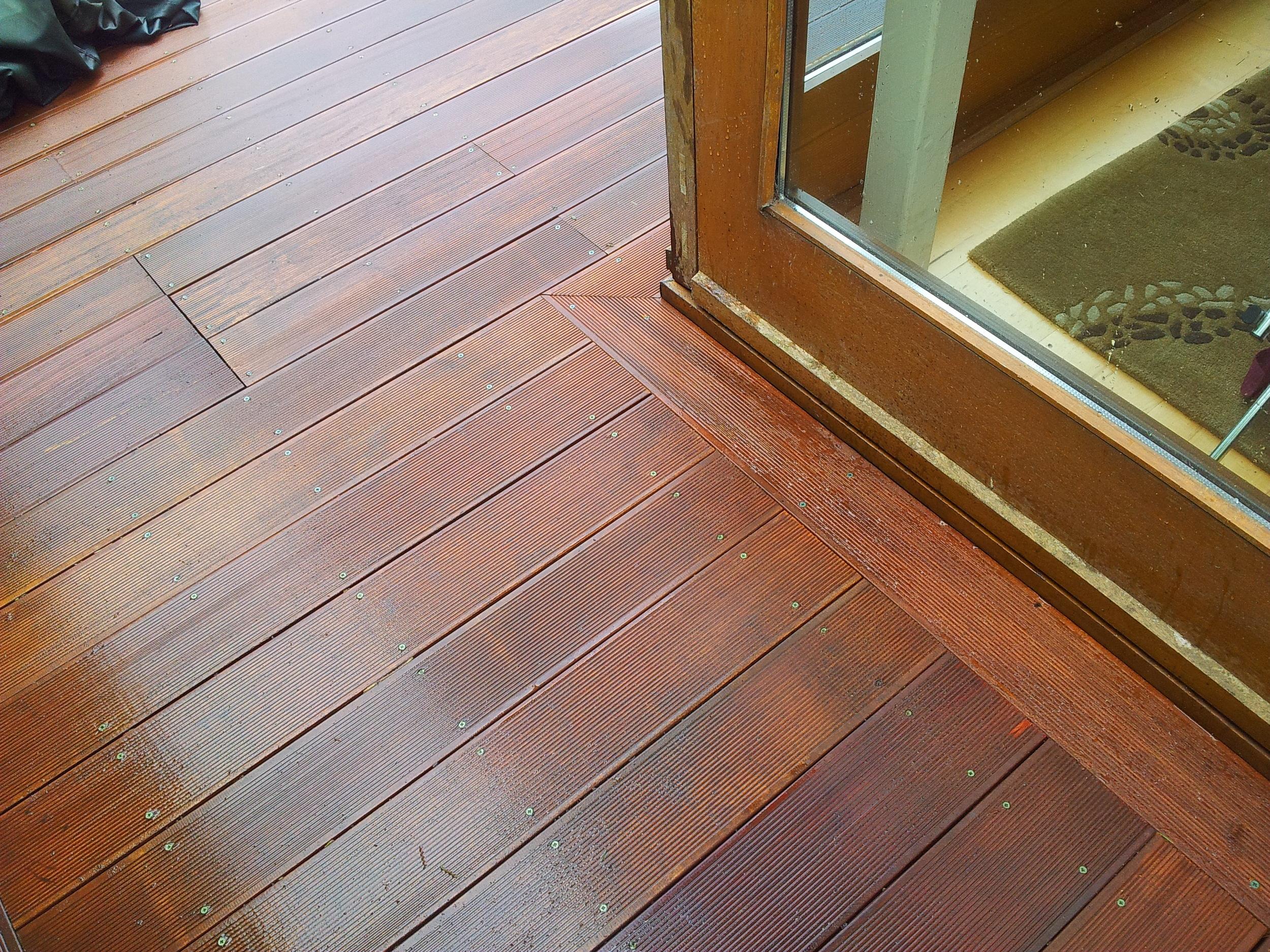 hardwood decking detail