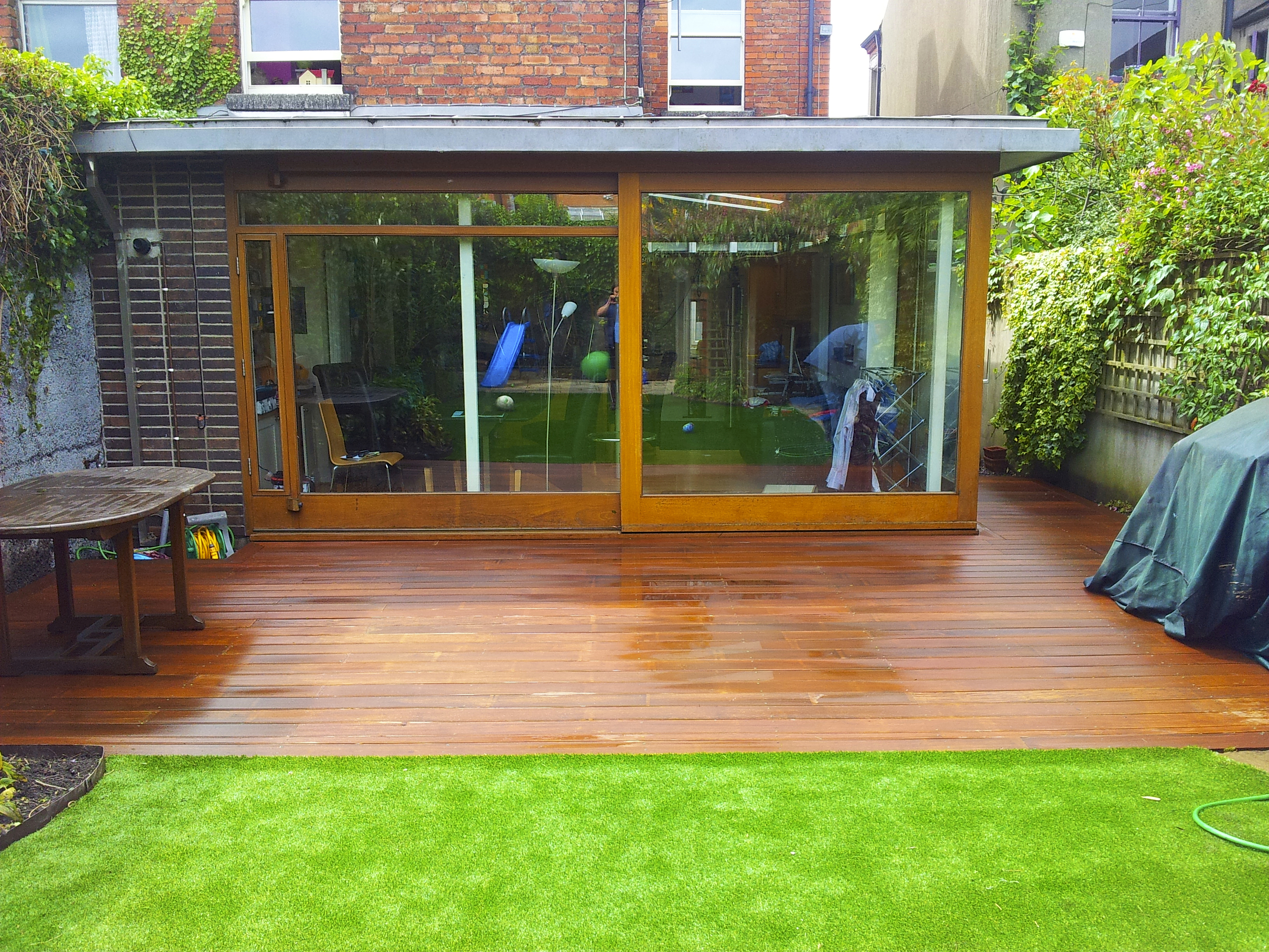 Deck and lawn
