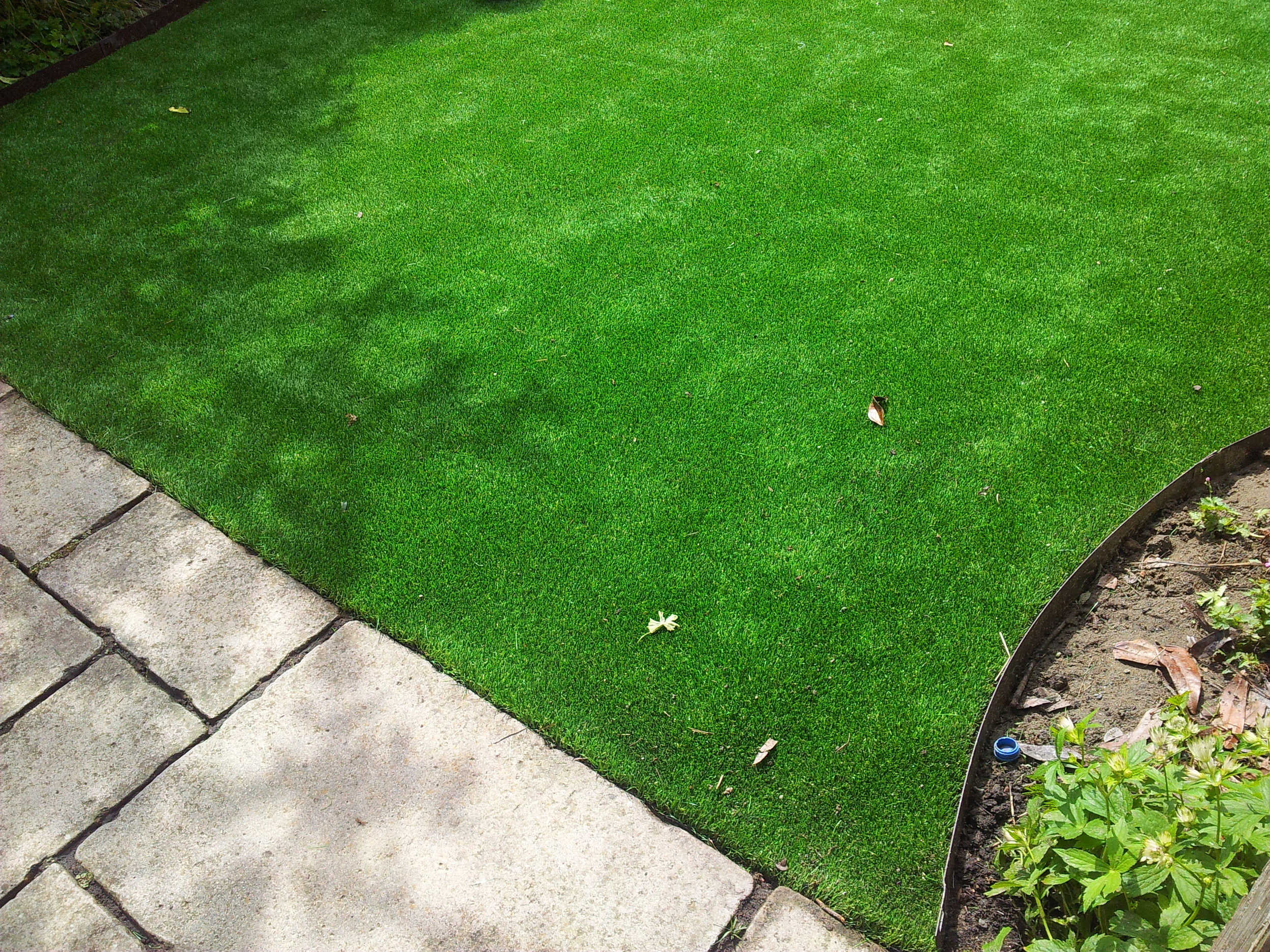 artificial lawn and edging