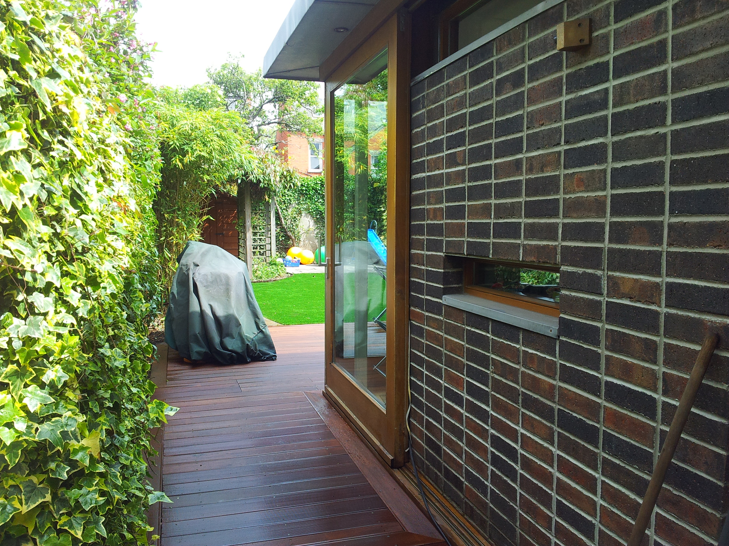 profile of extension and decking