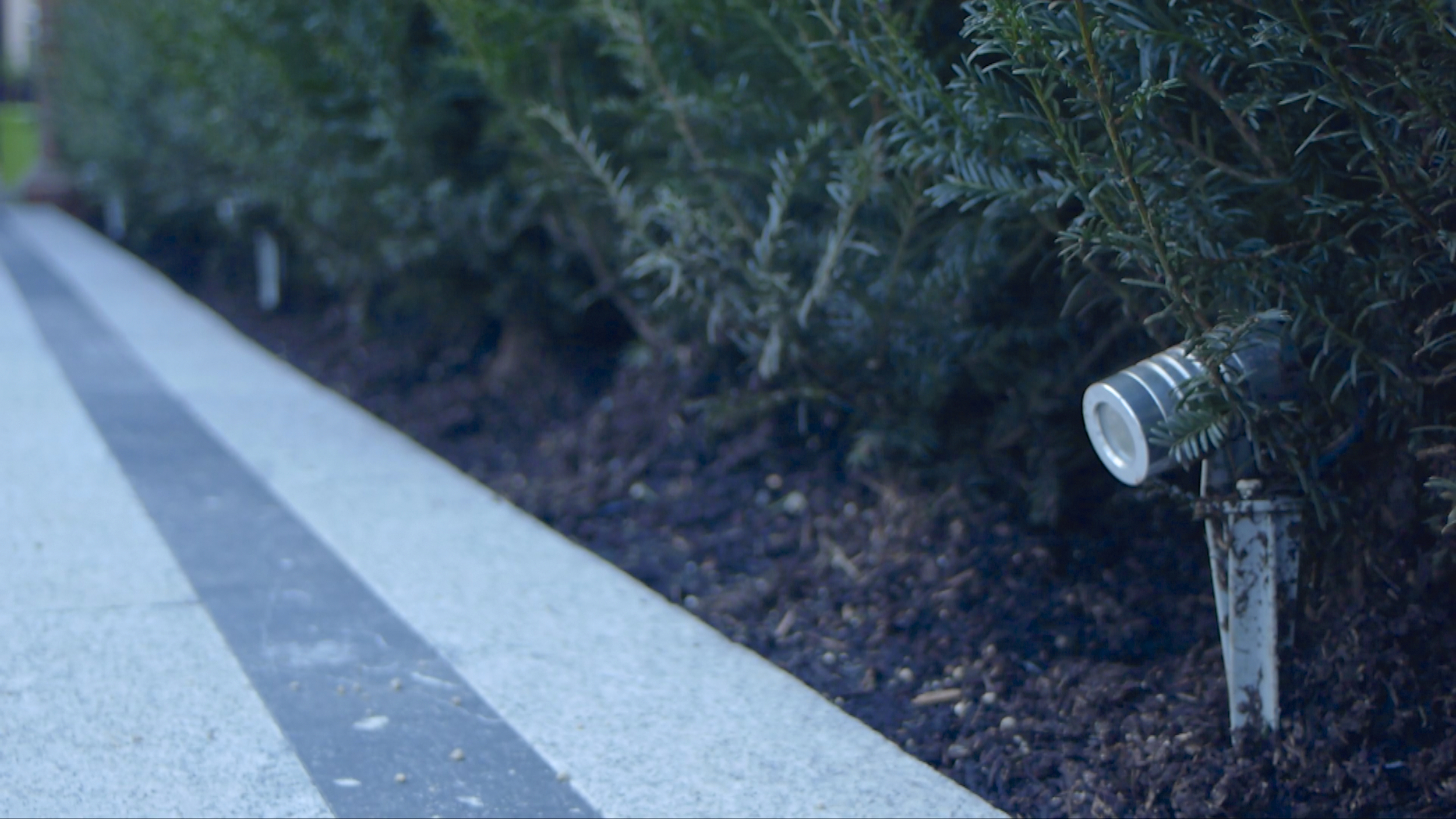 LED light on Garden Path