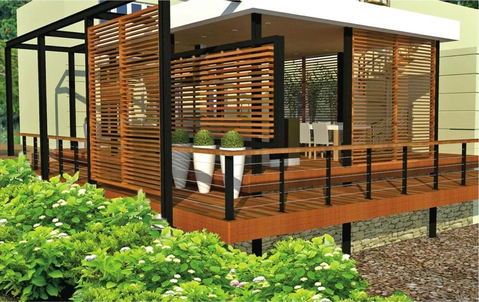 outdoor 3D room design