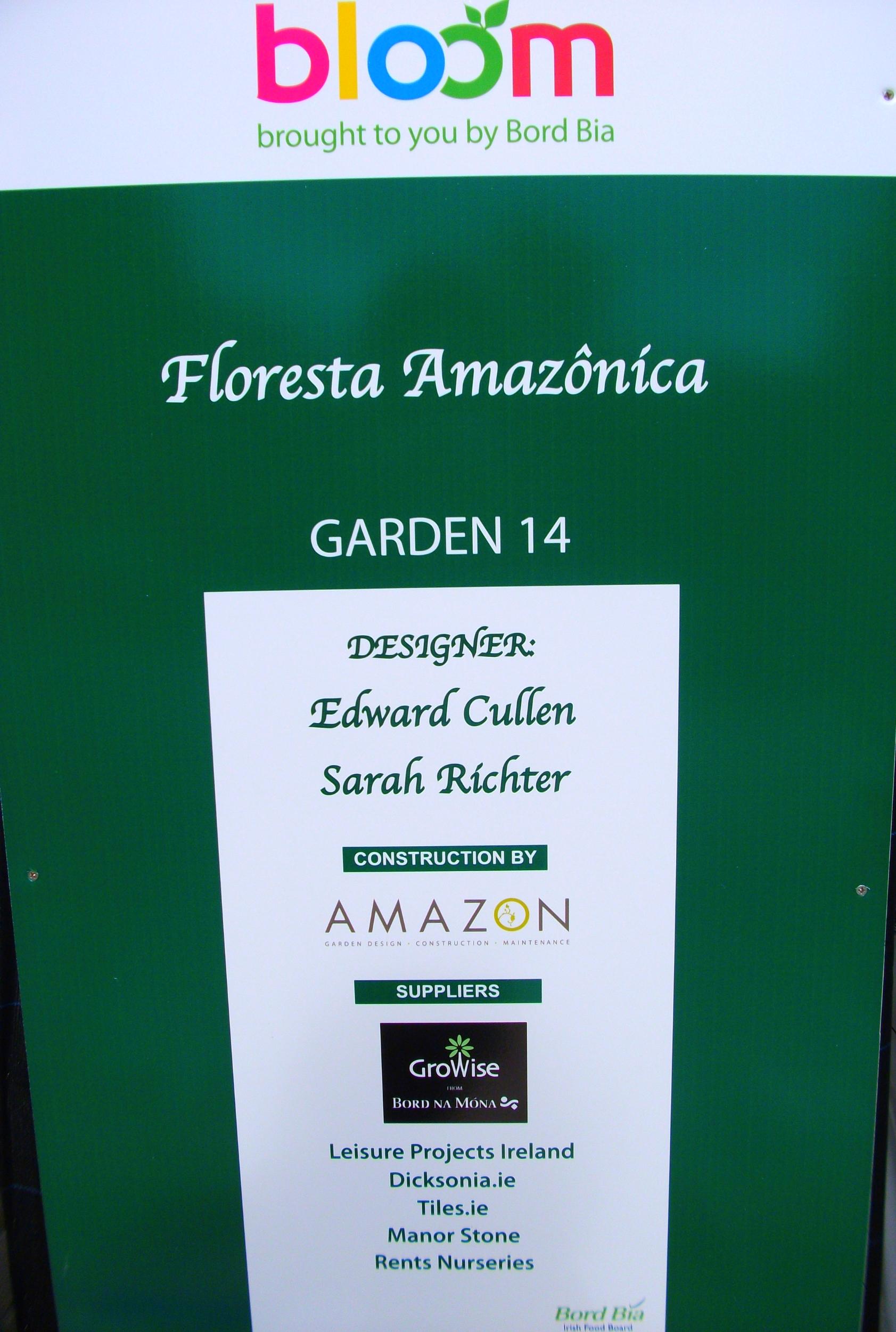 Garden Sign at Bloom