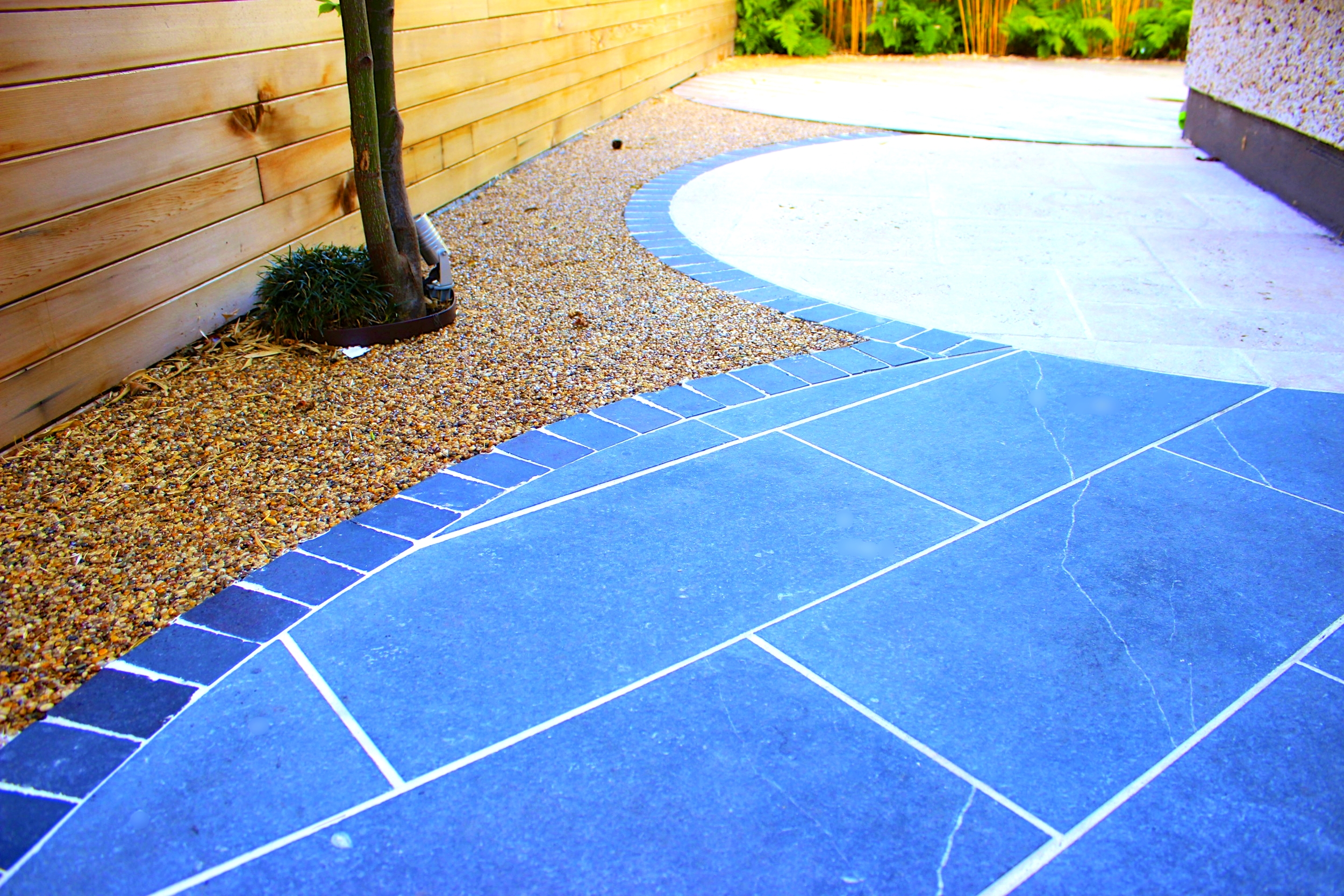 limestone edging and paving
