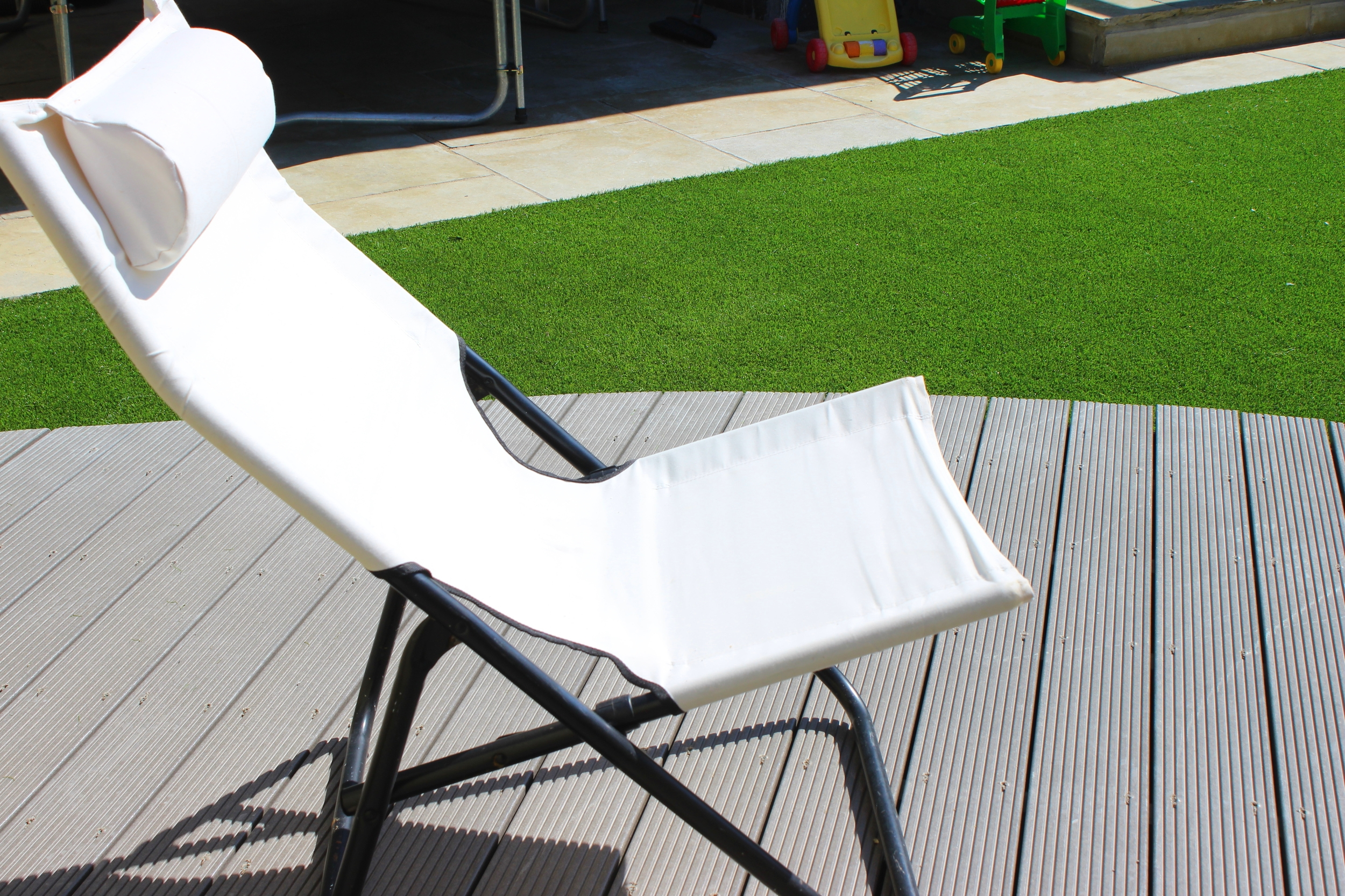 deck chair and turf