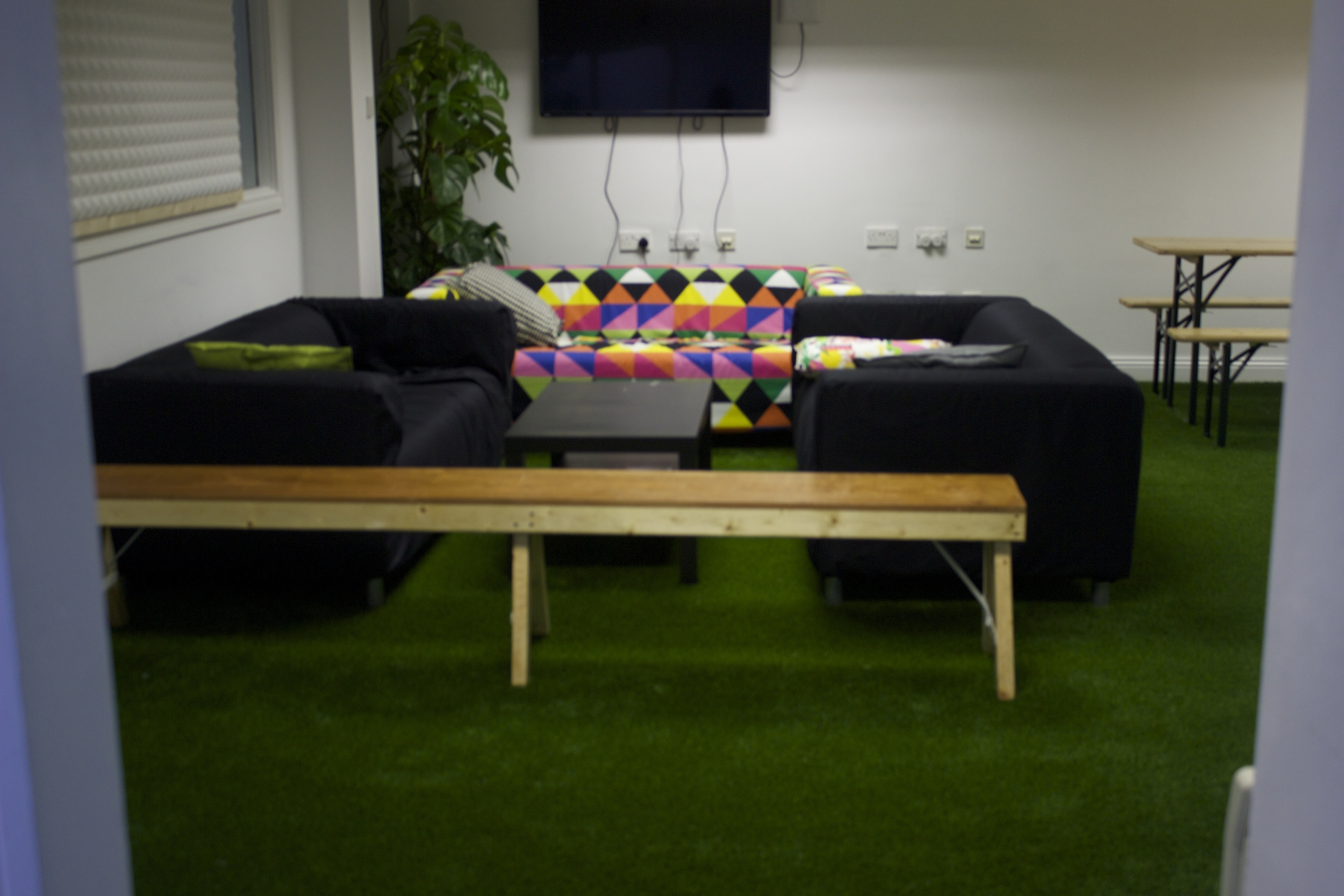 couch and grass