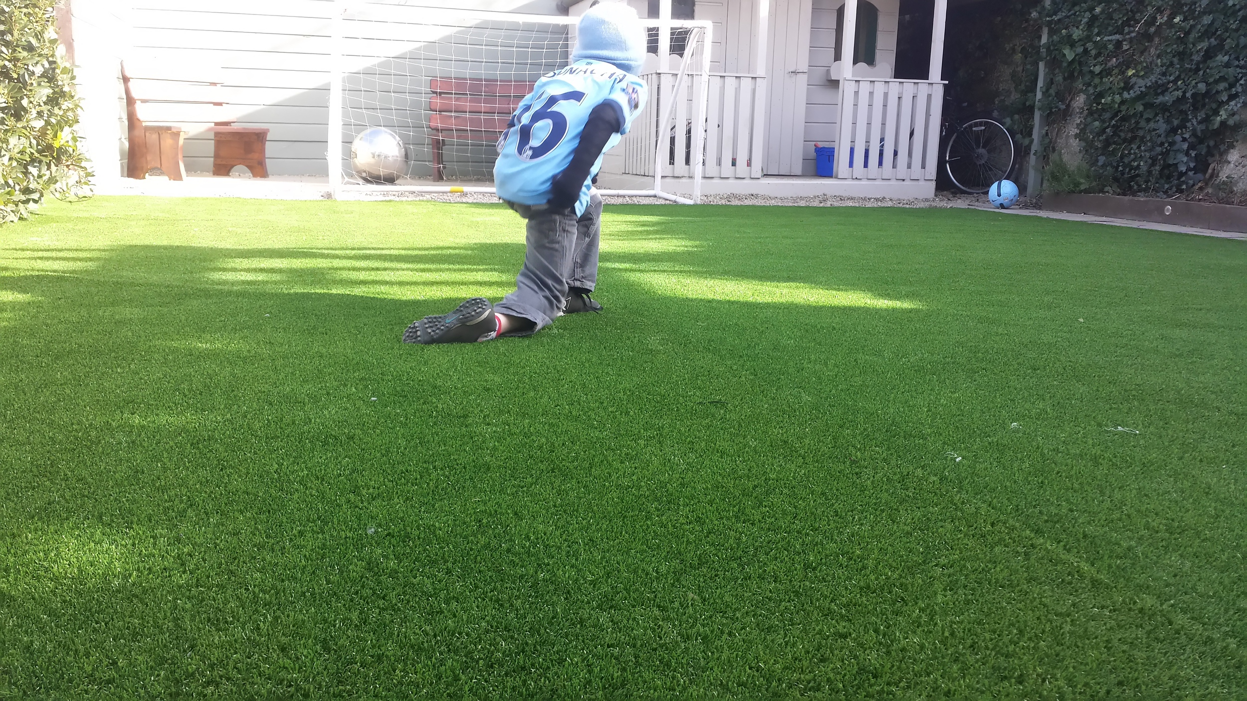 football on Garden grass