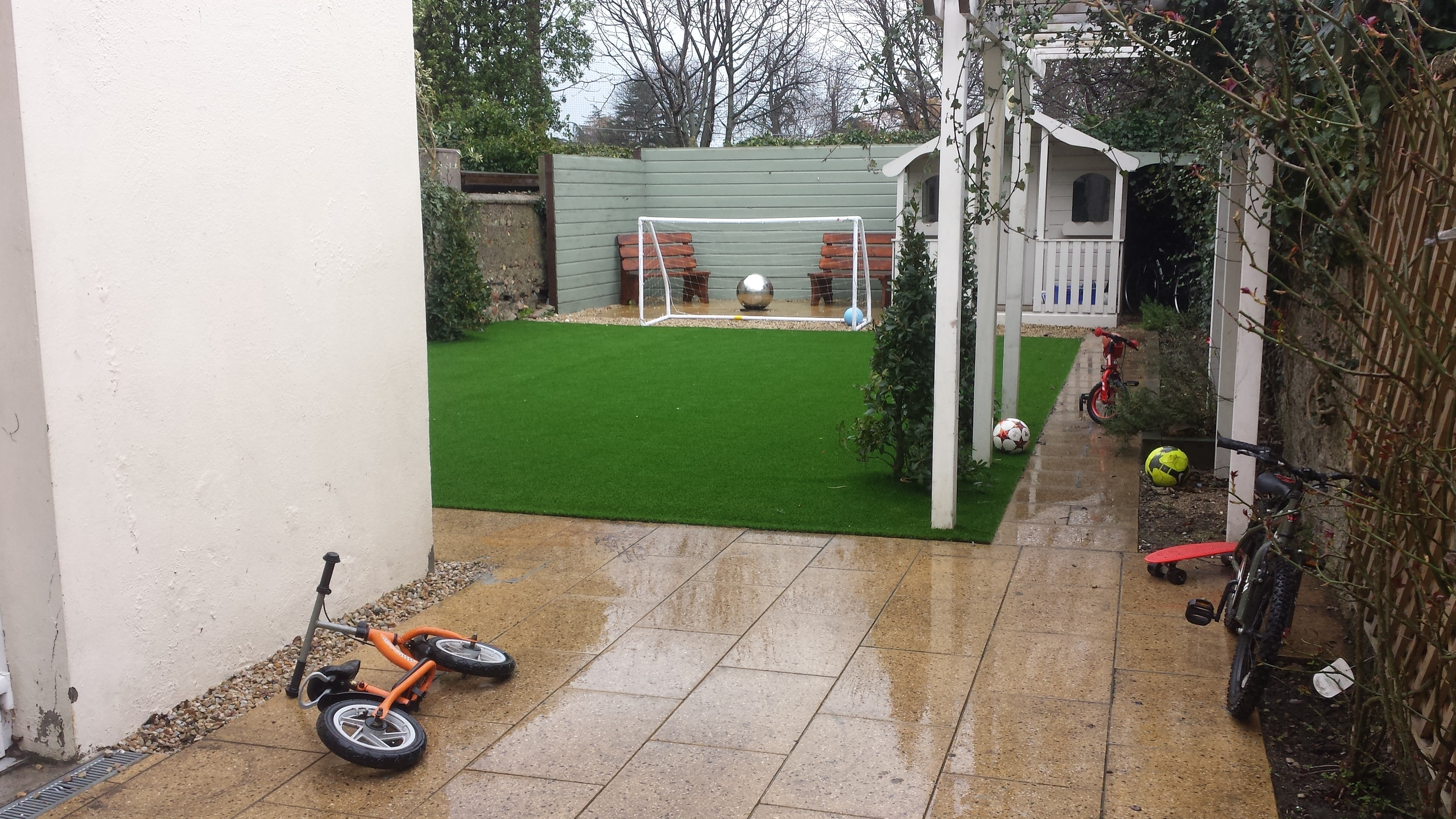astroturf in rain
