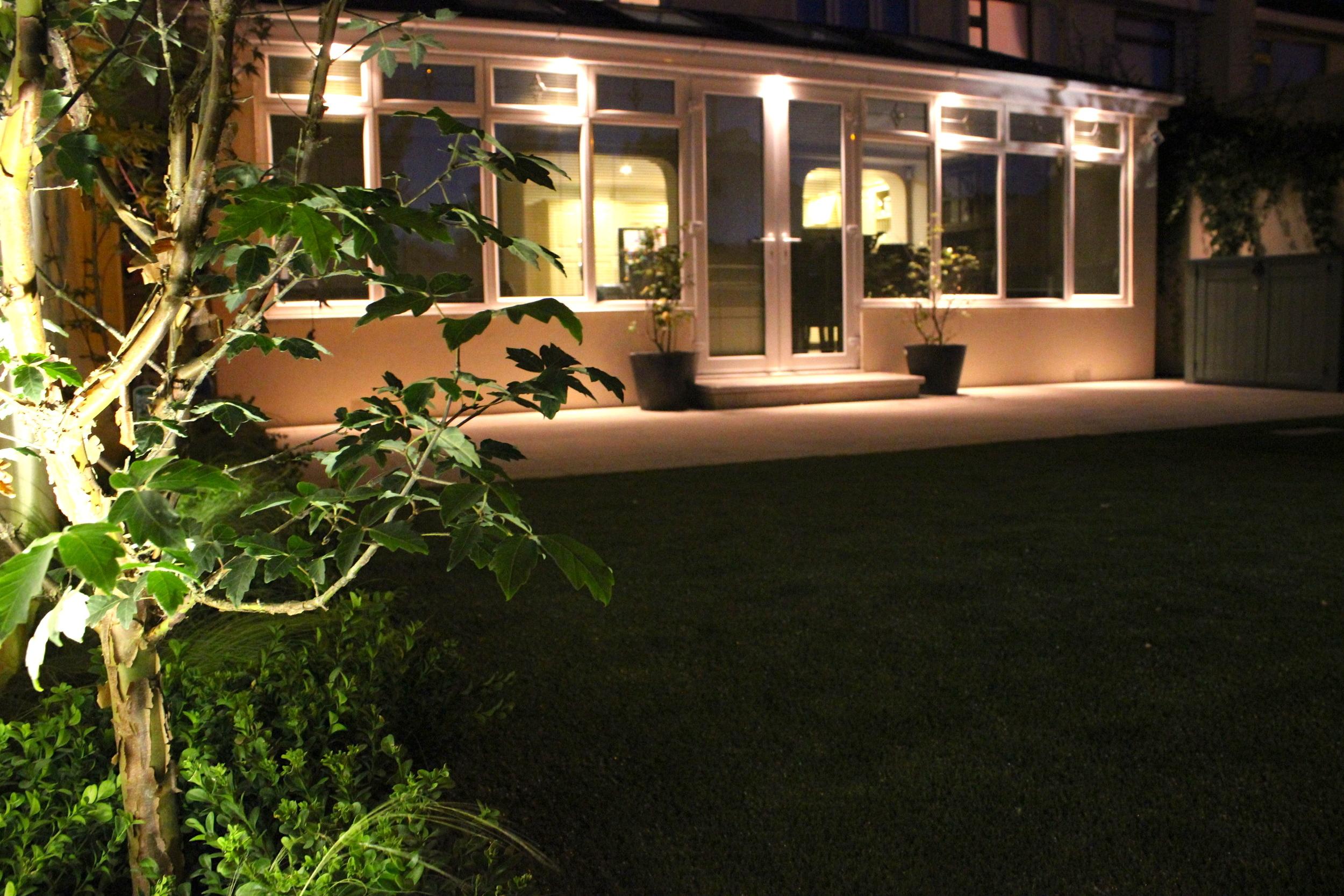 back garden exterior lighting
