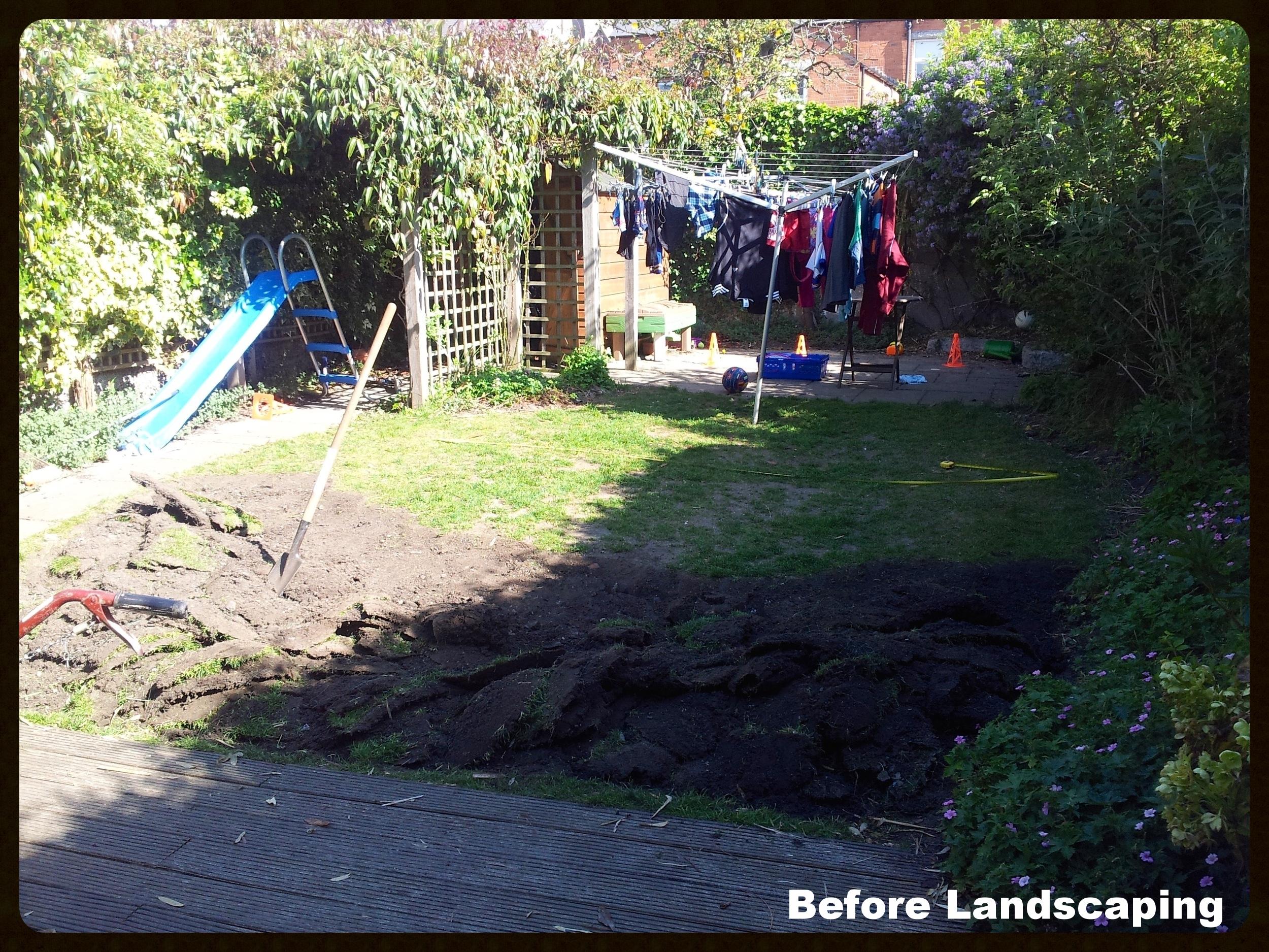 Family Garden before Landscaping