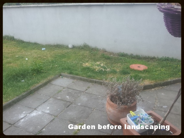 Dublin garden before landscaping
