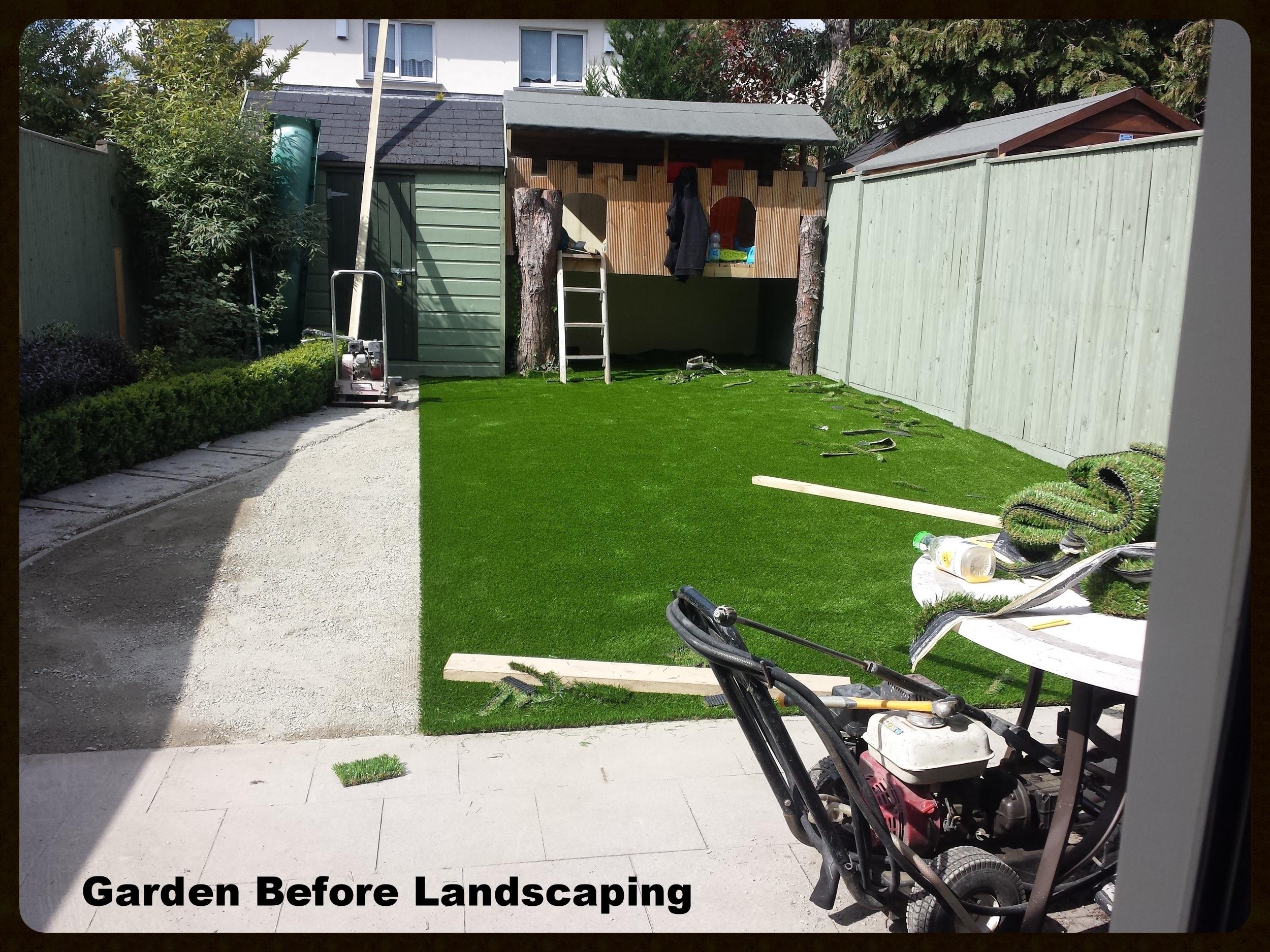 Garden during landscaping