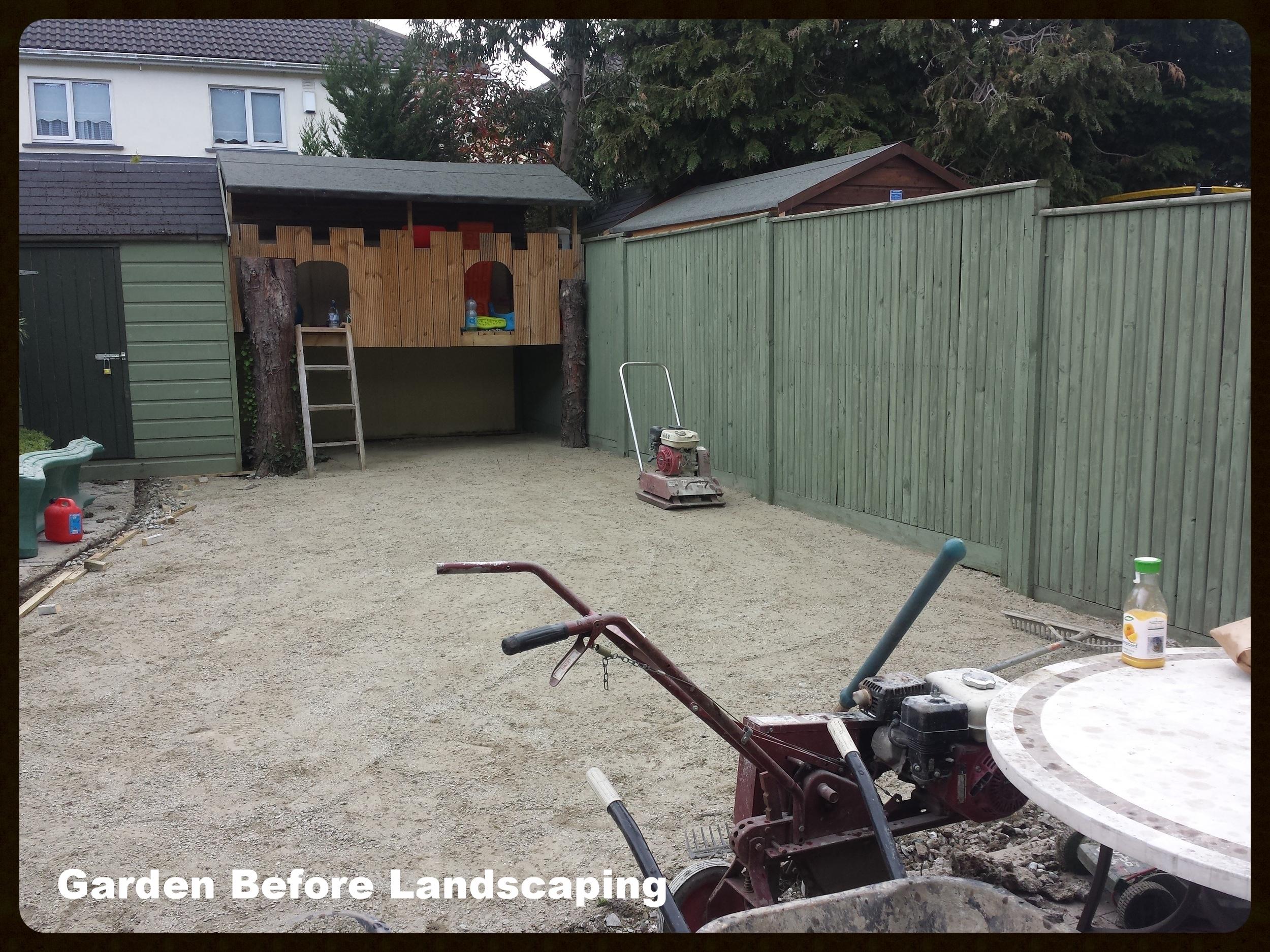 Garden Landscaping with artificial grass