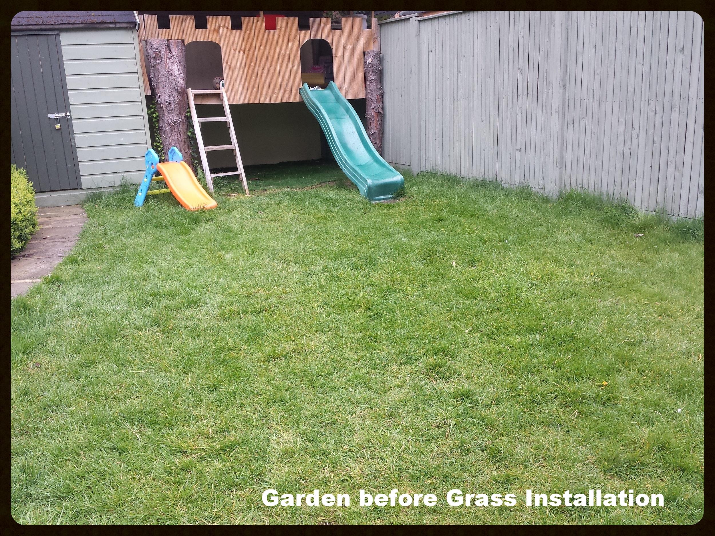 Garden before grass installation