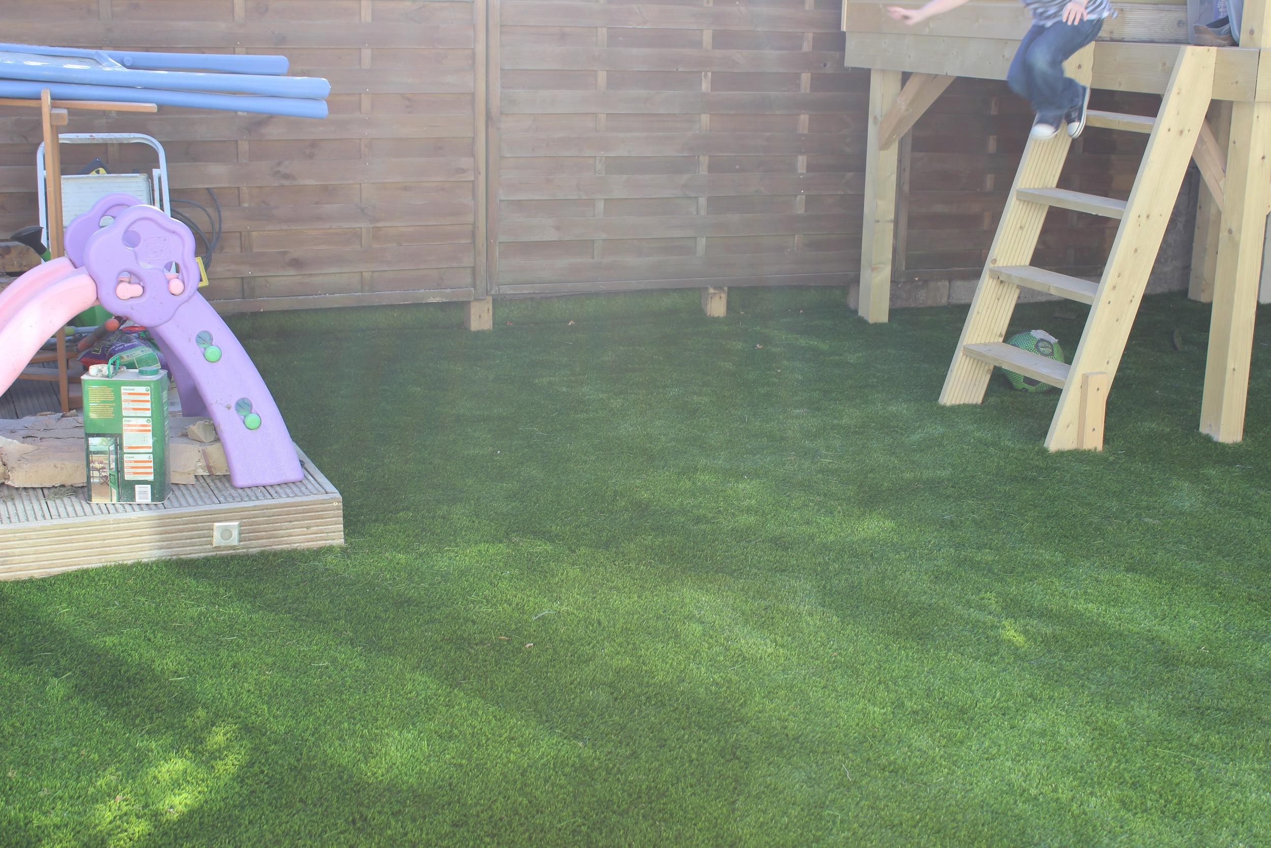 Family garden astroturf lawn