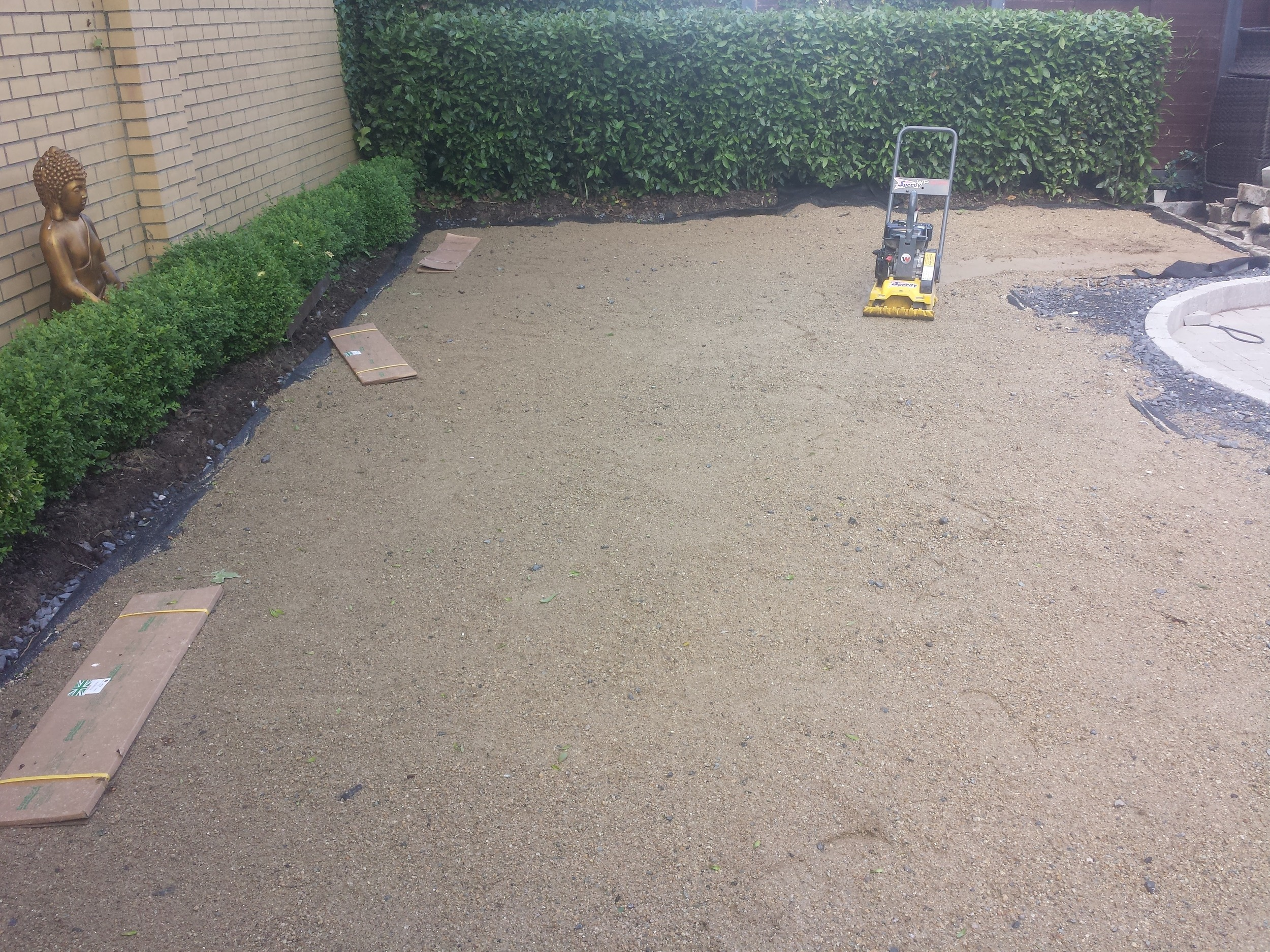 lawn edging and groundworks