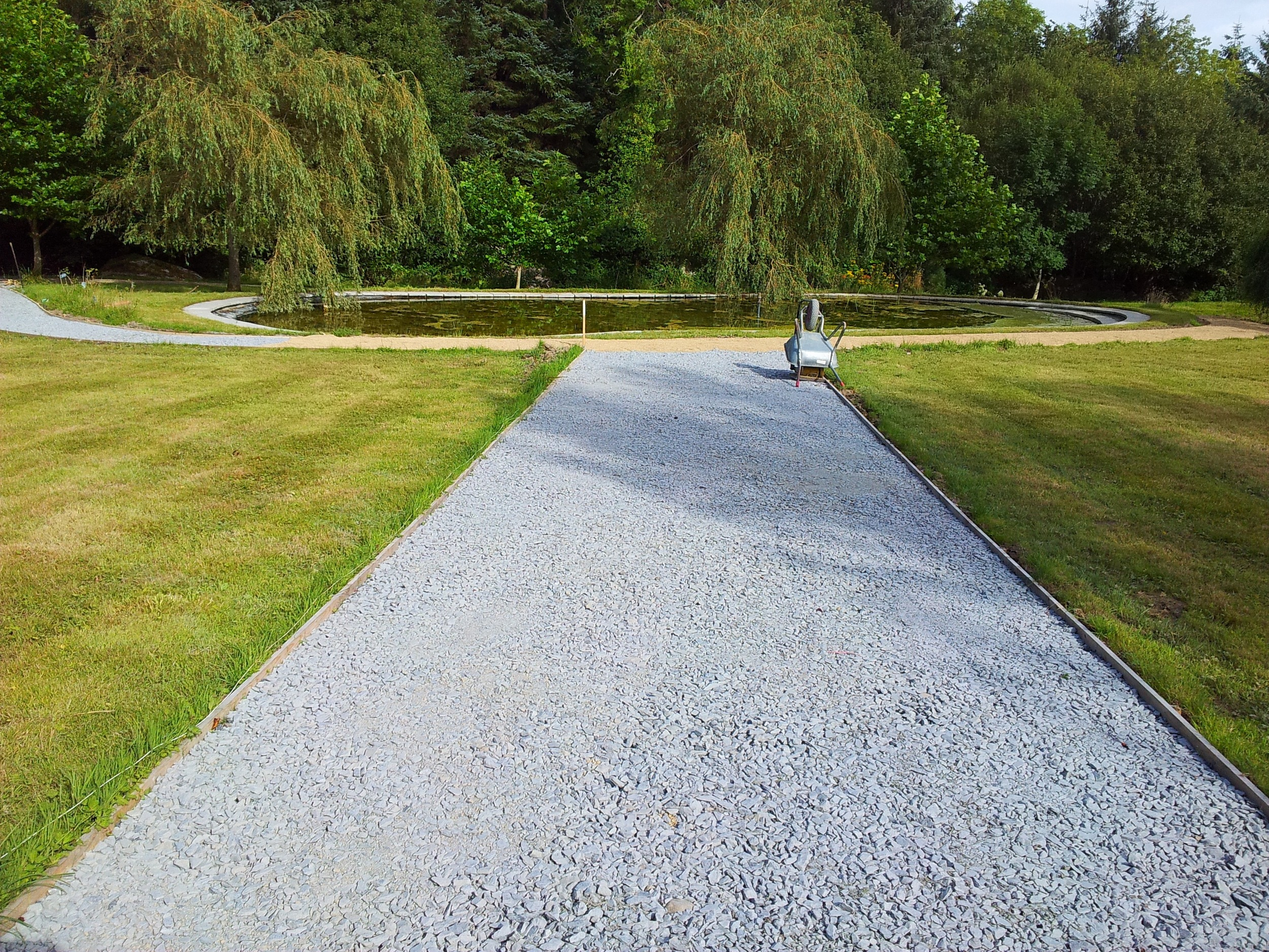 Powerscourt Garden estate paths, co. Wicklow, Ireland