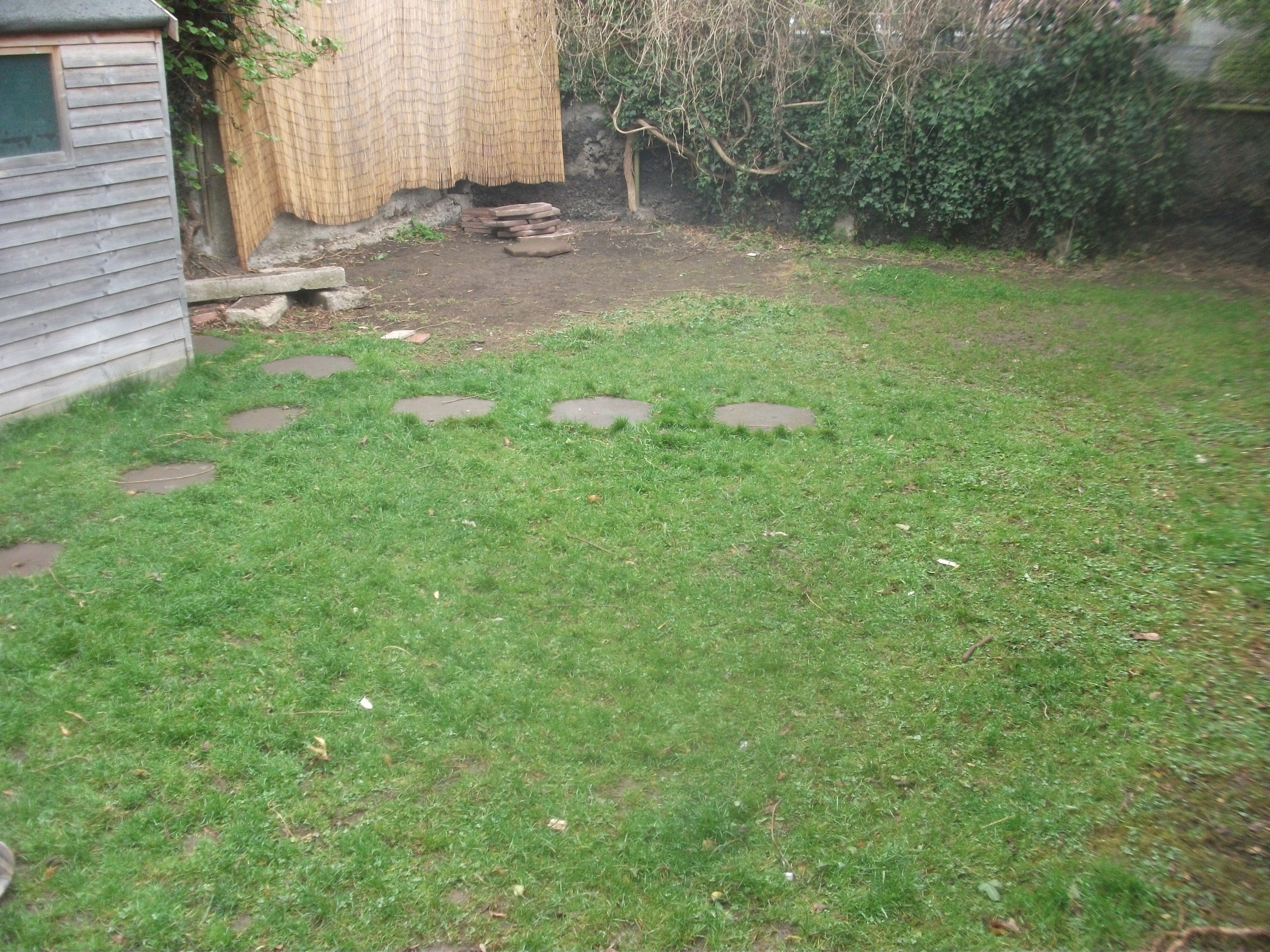 Garden Lawn before landscaping