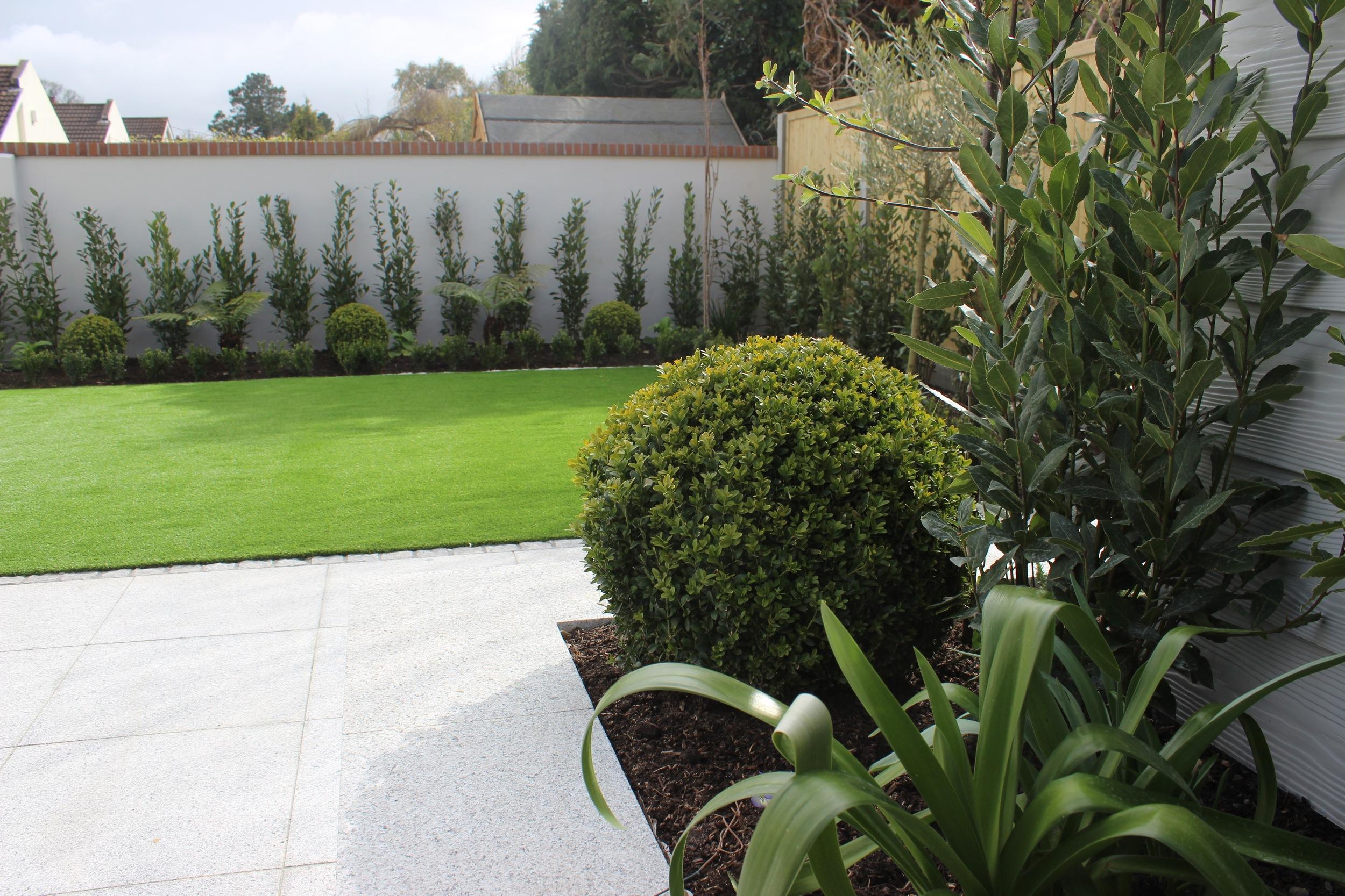 contemporary garden design with synthetic grass.JPG