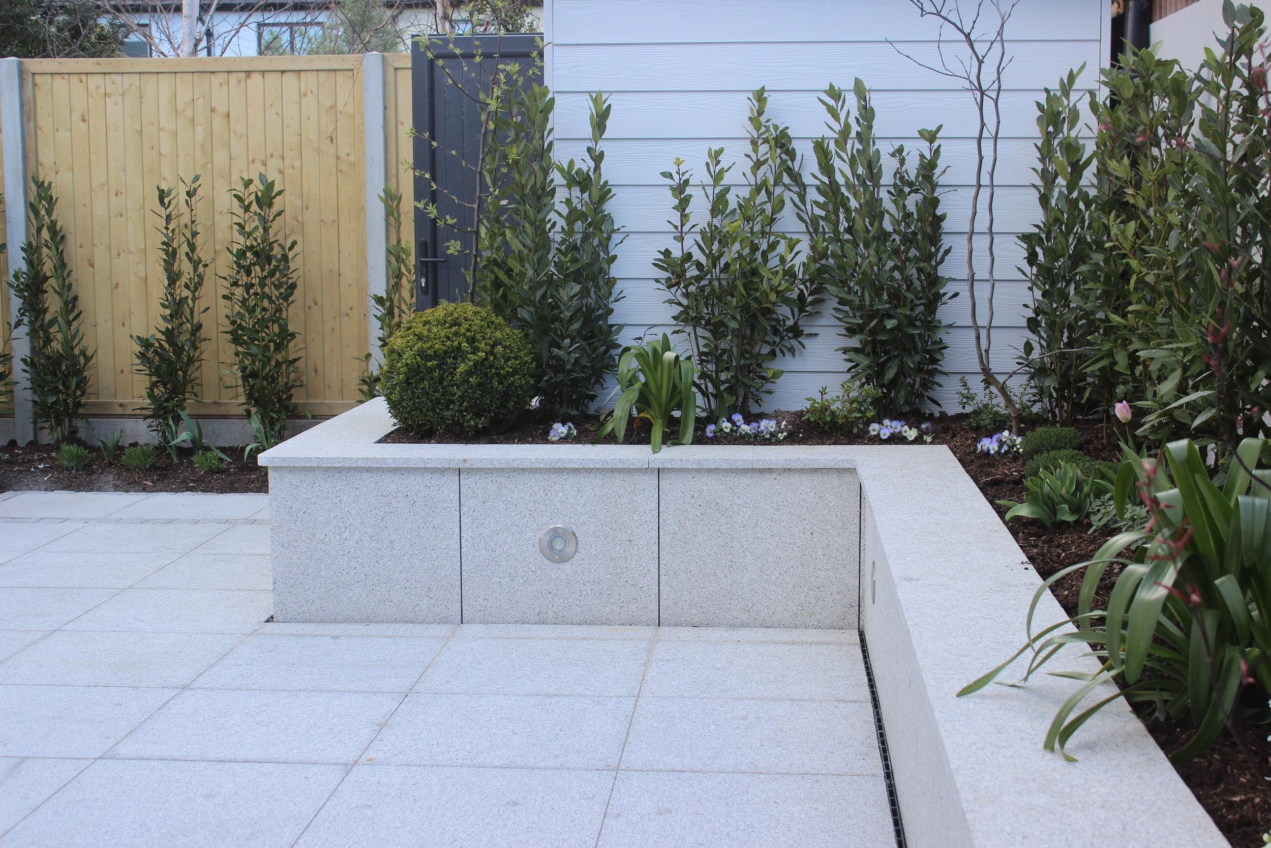 Granite Flower Beds