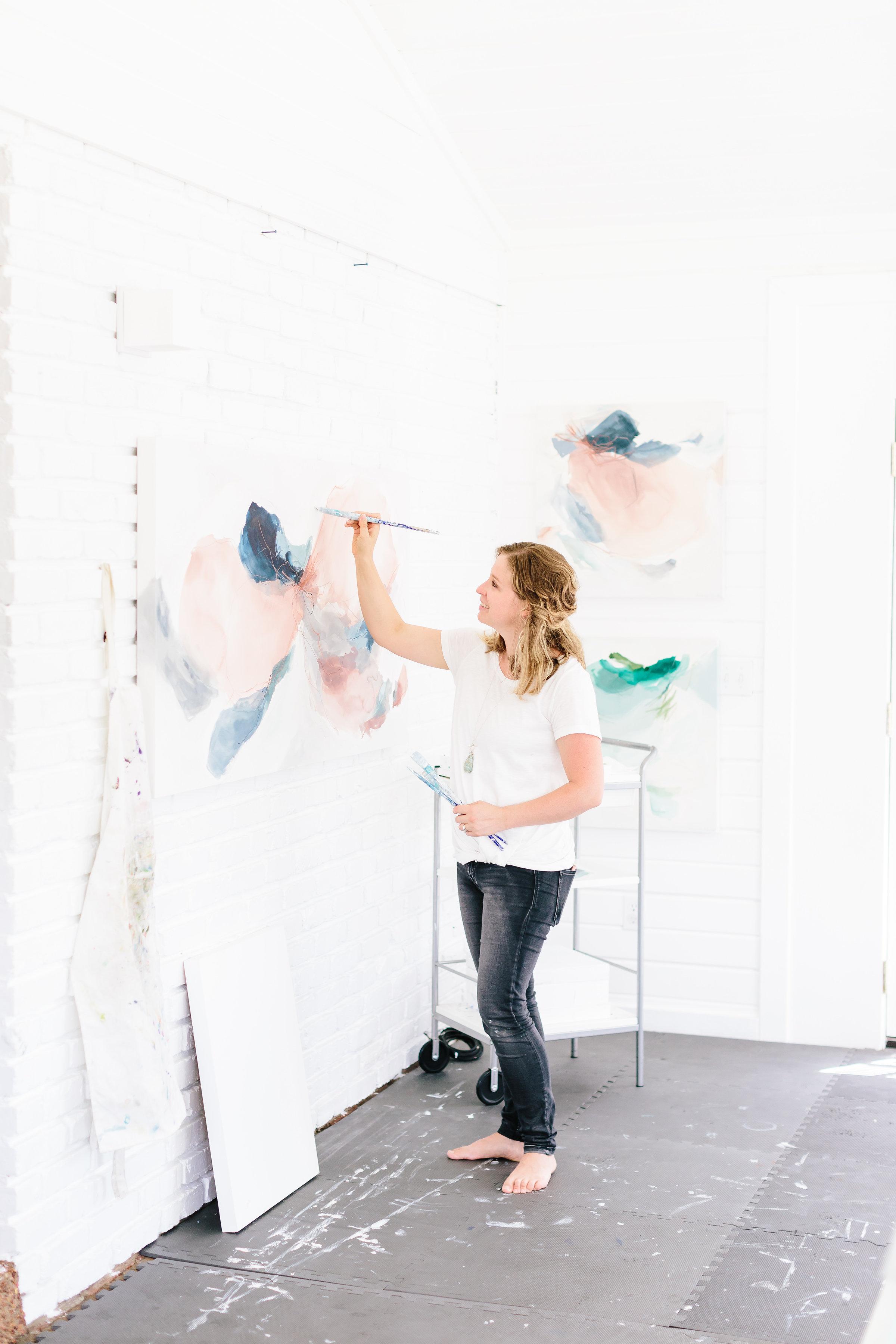 Deeann Rieves dreamy light filled art studio