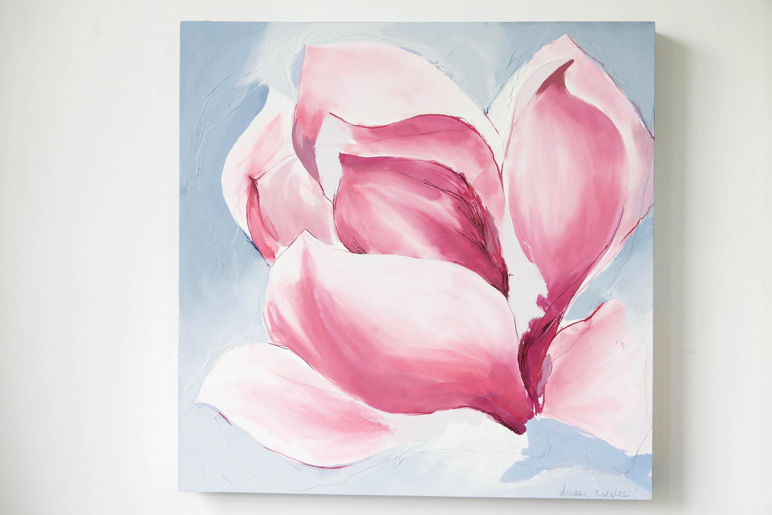 Tulip Magnolia 30 X 30 In Deeann Rieves