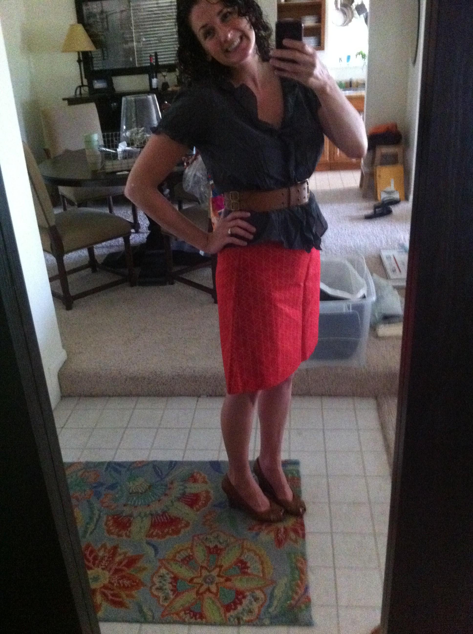 hand me down skirt. happy.