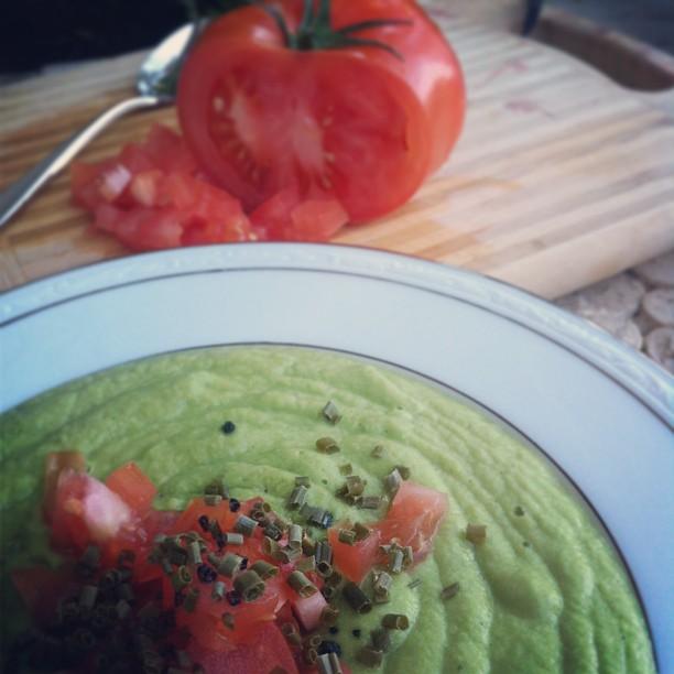 raw avocado soup