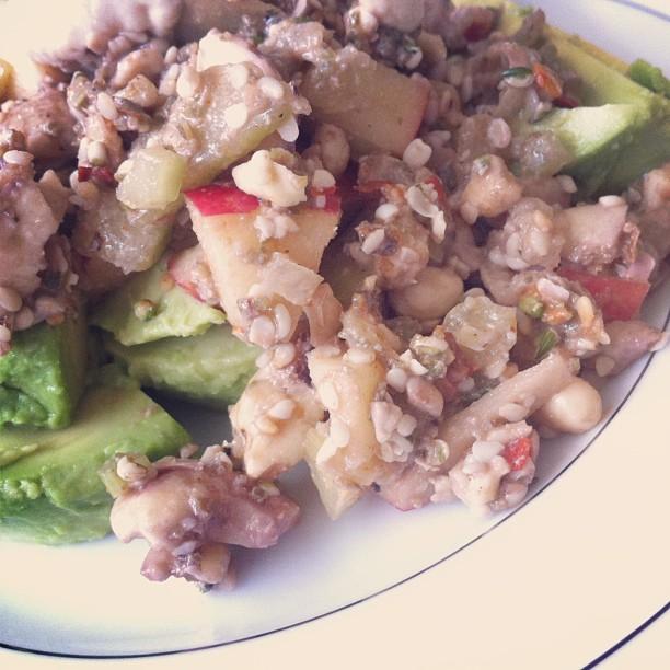 raw not chicken salad