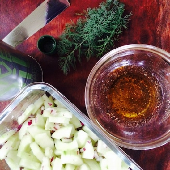 cucumber dill salad - 1