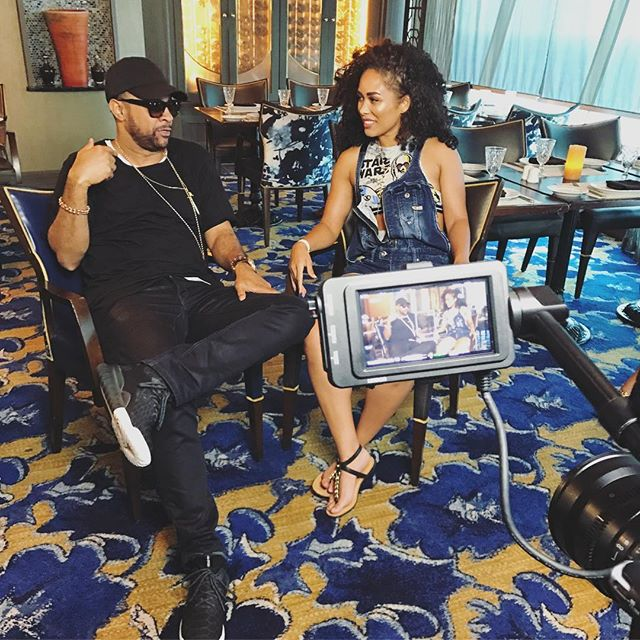 Interview we shot with @direalshaggy and @kreeshaturner last year aboard Zumba Cruise which is coming up next month btw. #tbt
