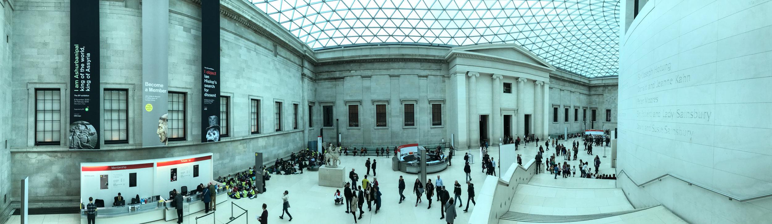 BRITISH MUSEUM - LONDON - INTERIOR