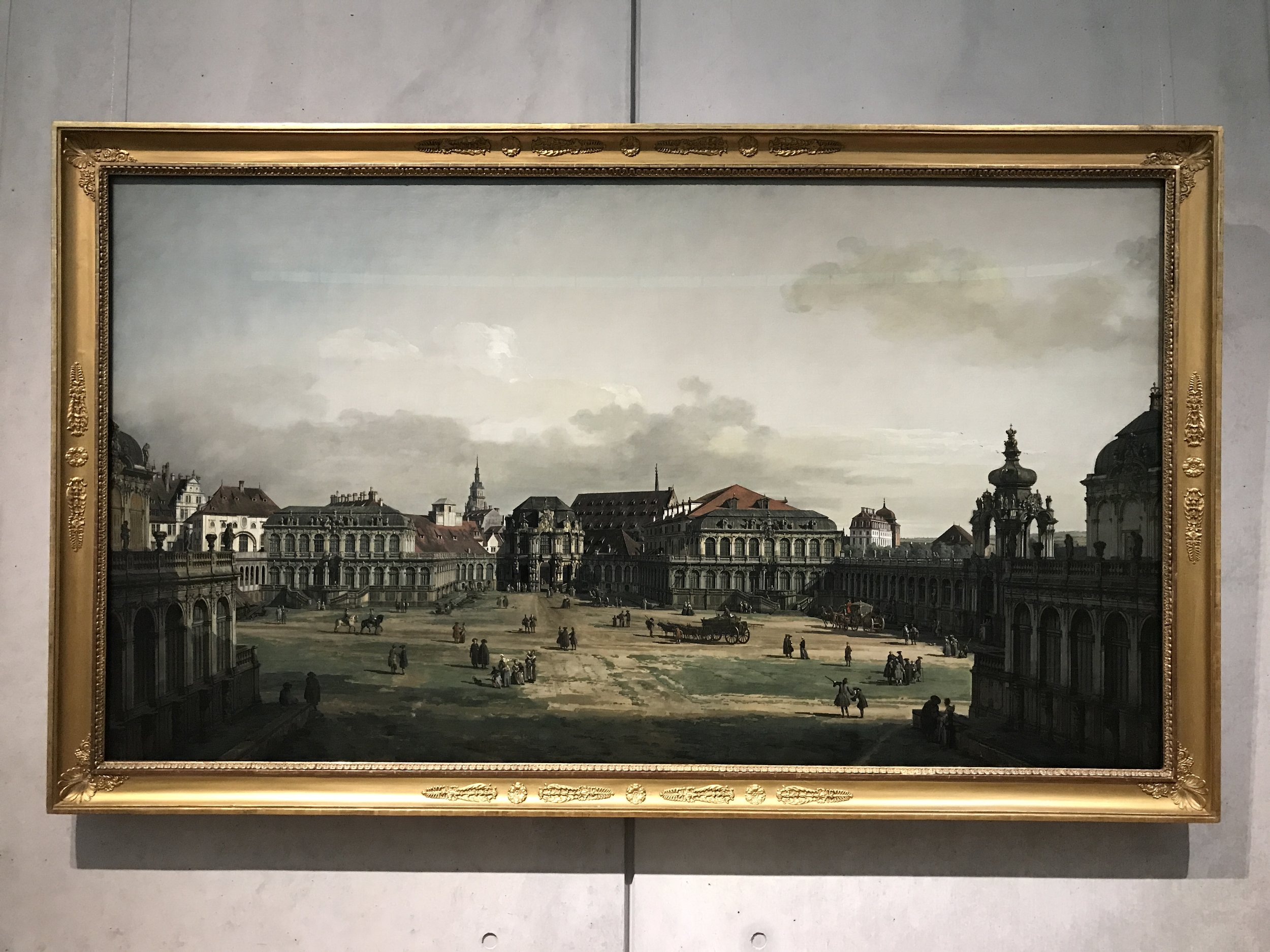 The Zwinger Courtyard in Dresden - Canaletto