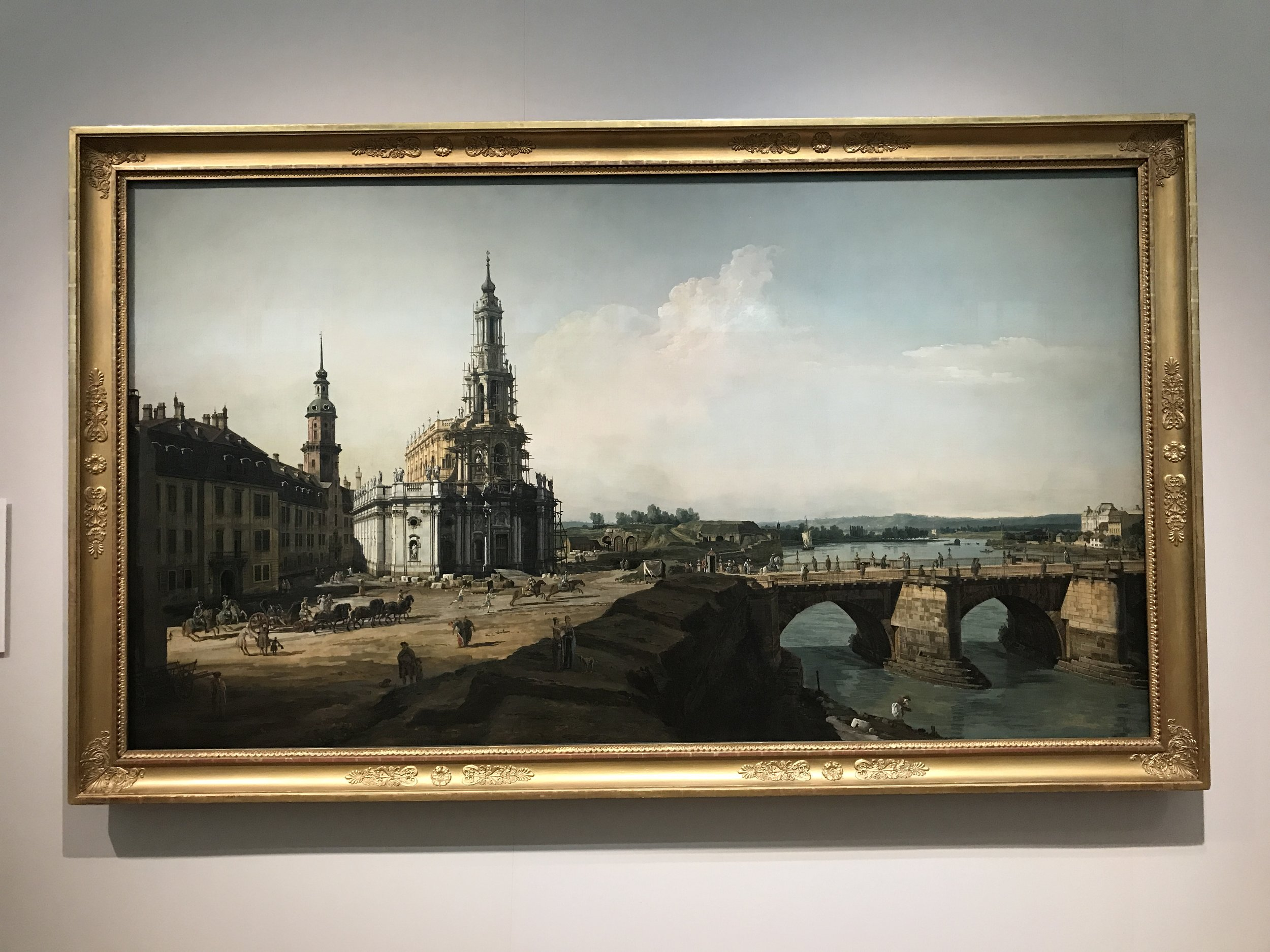 Dresden from the Left Bank of the Elbe - Canaletto