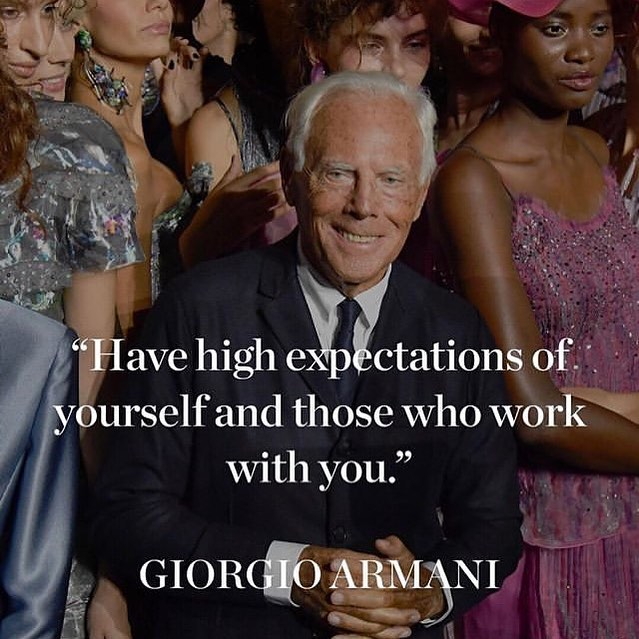 High expectations are key. #mondayinspo #highexpectations #personalstylist #leahbprice #rg @bof