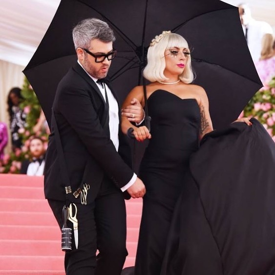 Still dreaming of all the Met looks from last night, especially the multiple moments Gaga created. Shout out to @brandonmaxwell and his team for their hard work in putting together these looks. Loved Brandon's styling gear hanging on his hip! #metgala #metgala2019 #camp #brandonmaxwell #gaga #lookgreatfeelgreat