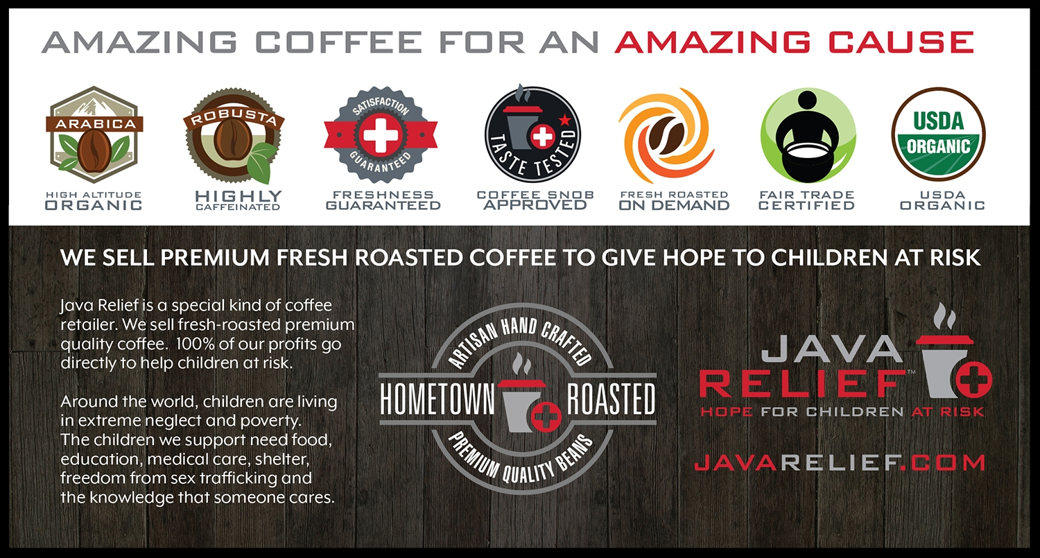 Side two of the Java Relief info card that comes with each bag sold.